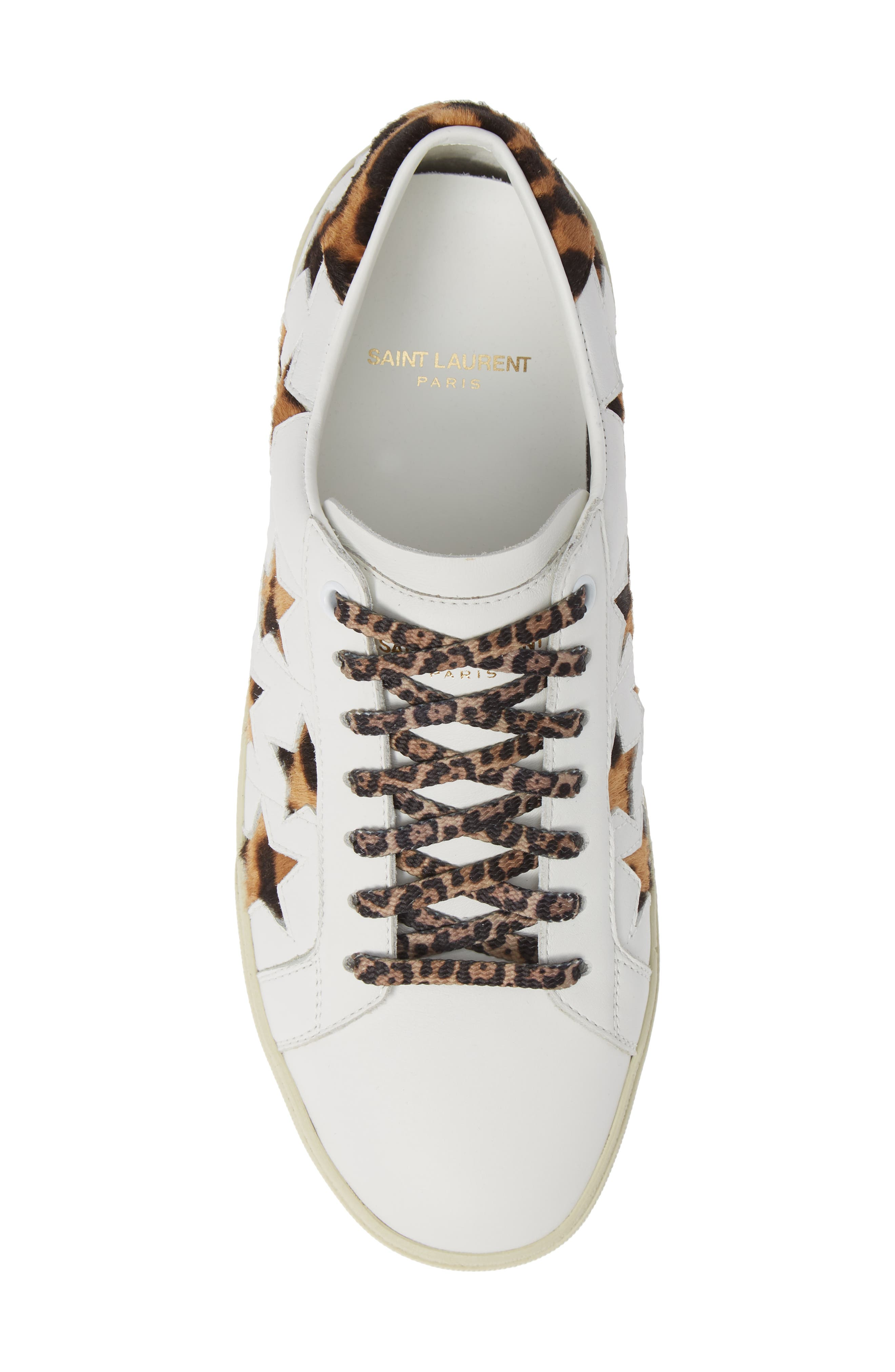 SL06 Genuine Calf Hair Sneaker,                             Alternate thumbnail 5, color,                             BLANC OPTIQUE/ CHAD