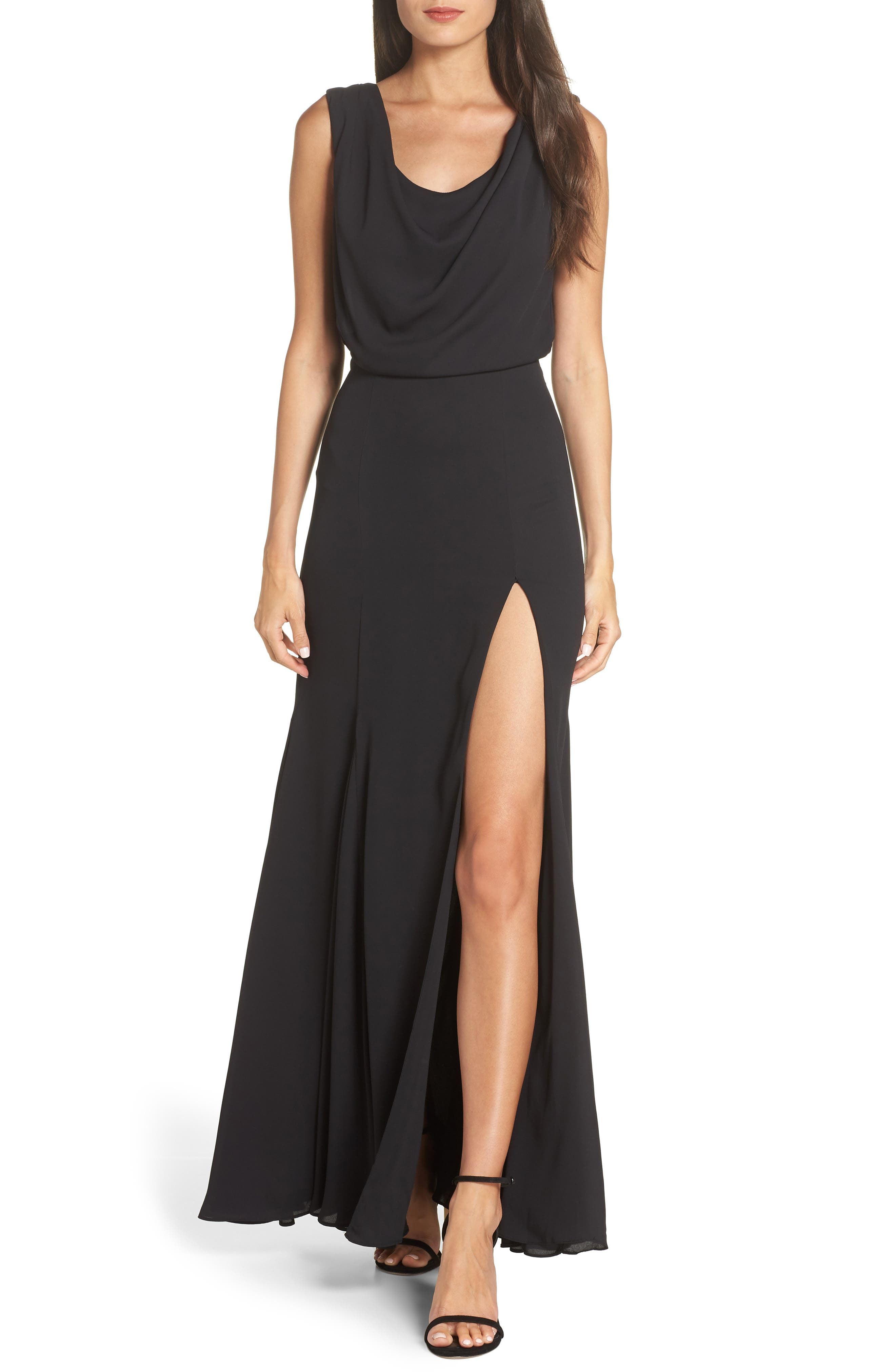 Fame And Partners The Lopez Gown, Black