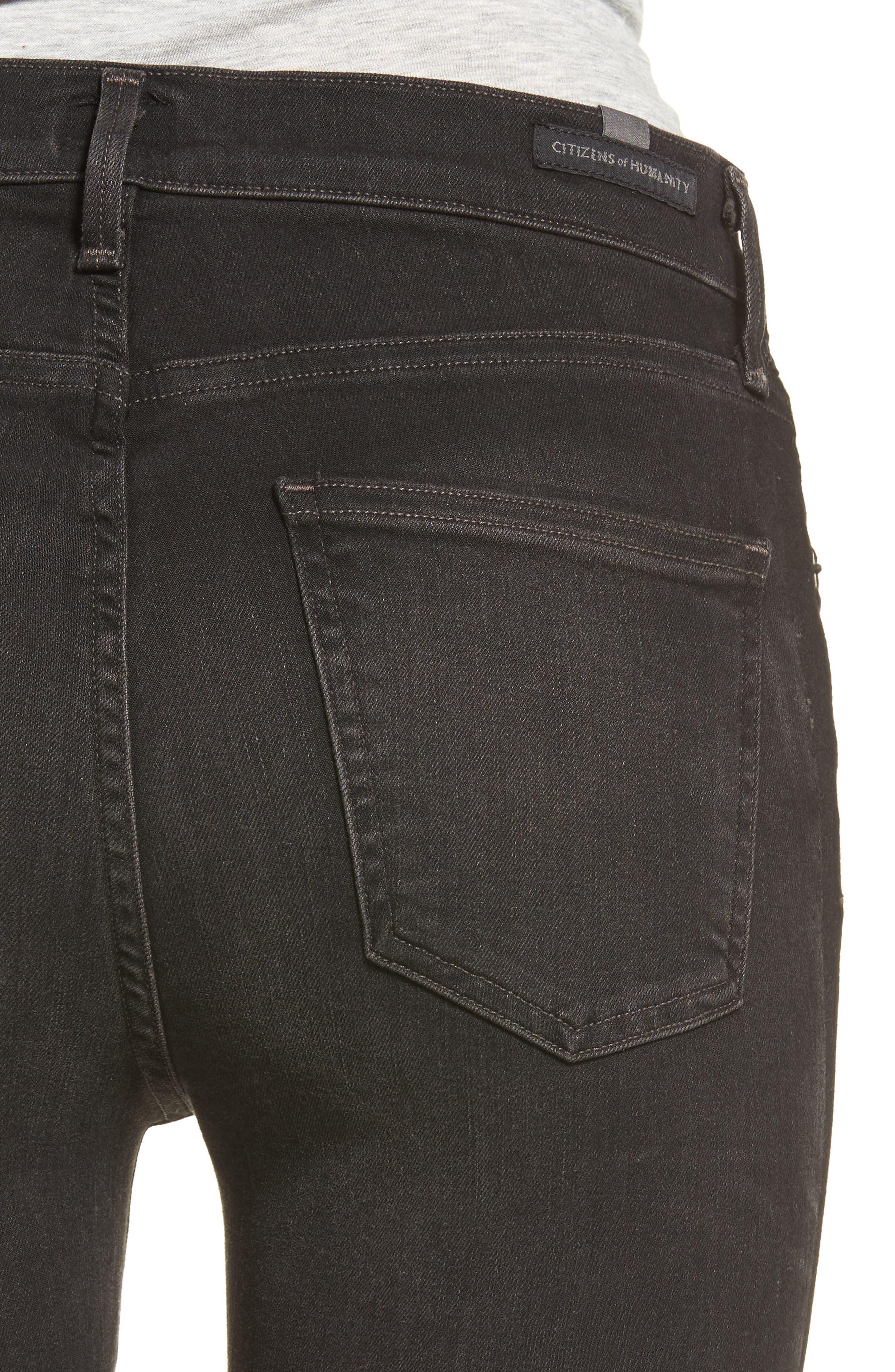 Rocket High Waist Crop Skinny Jeans,                             Alternate thumbnail 4, color,                             009