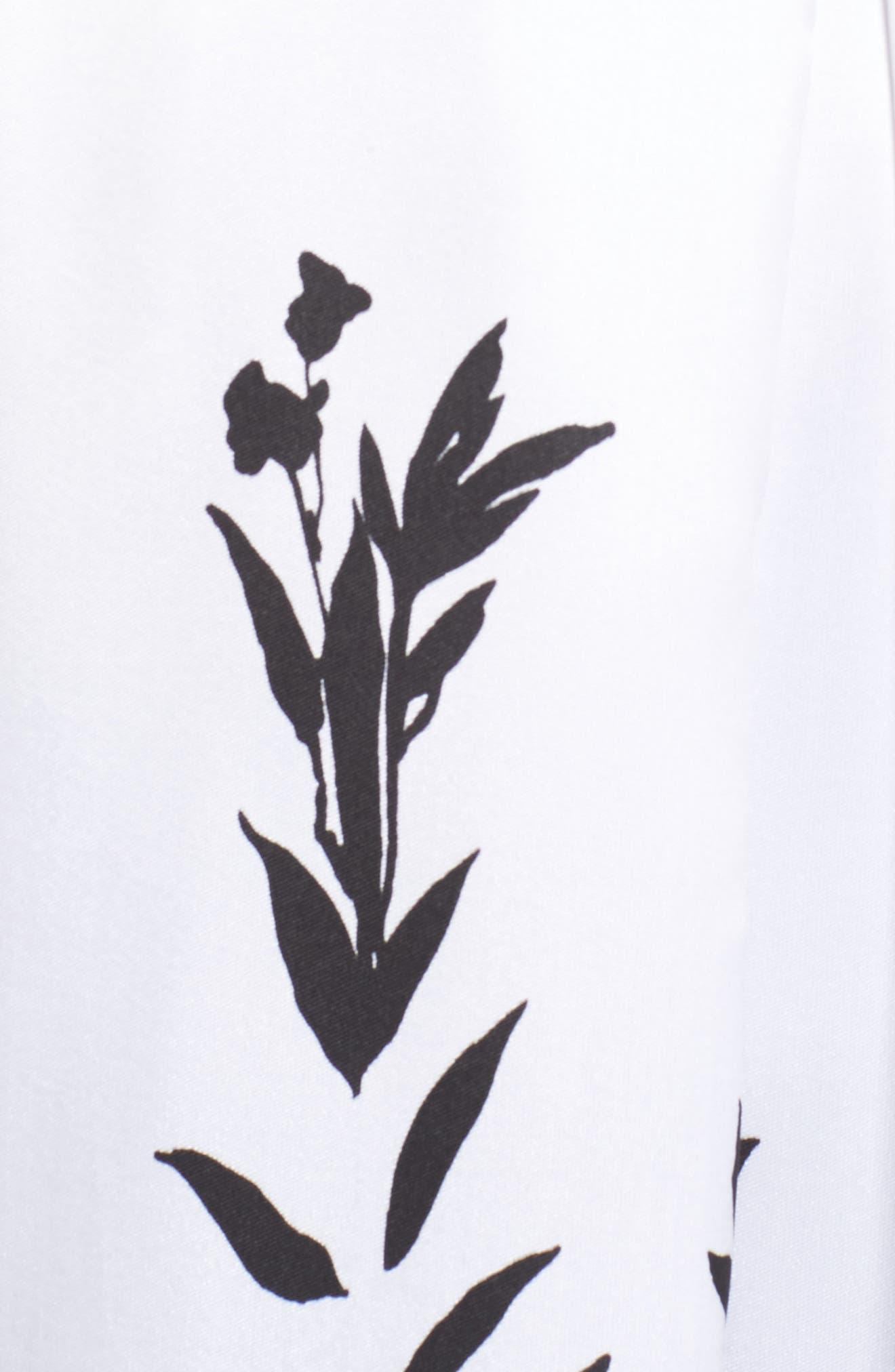 MORGAN & CO.,                             Mikado Illusion V Neck Gown,                             Alternate thumbnail 5, color,                             004