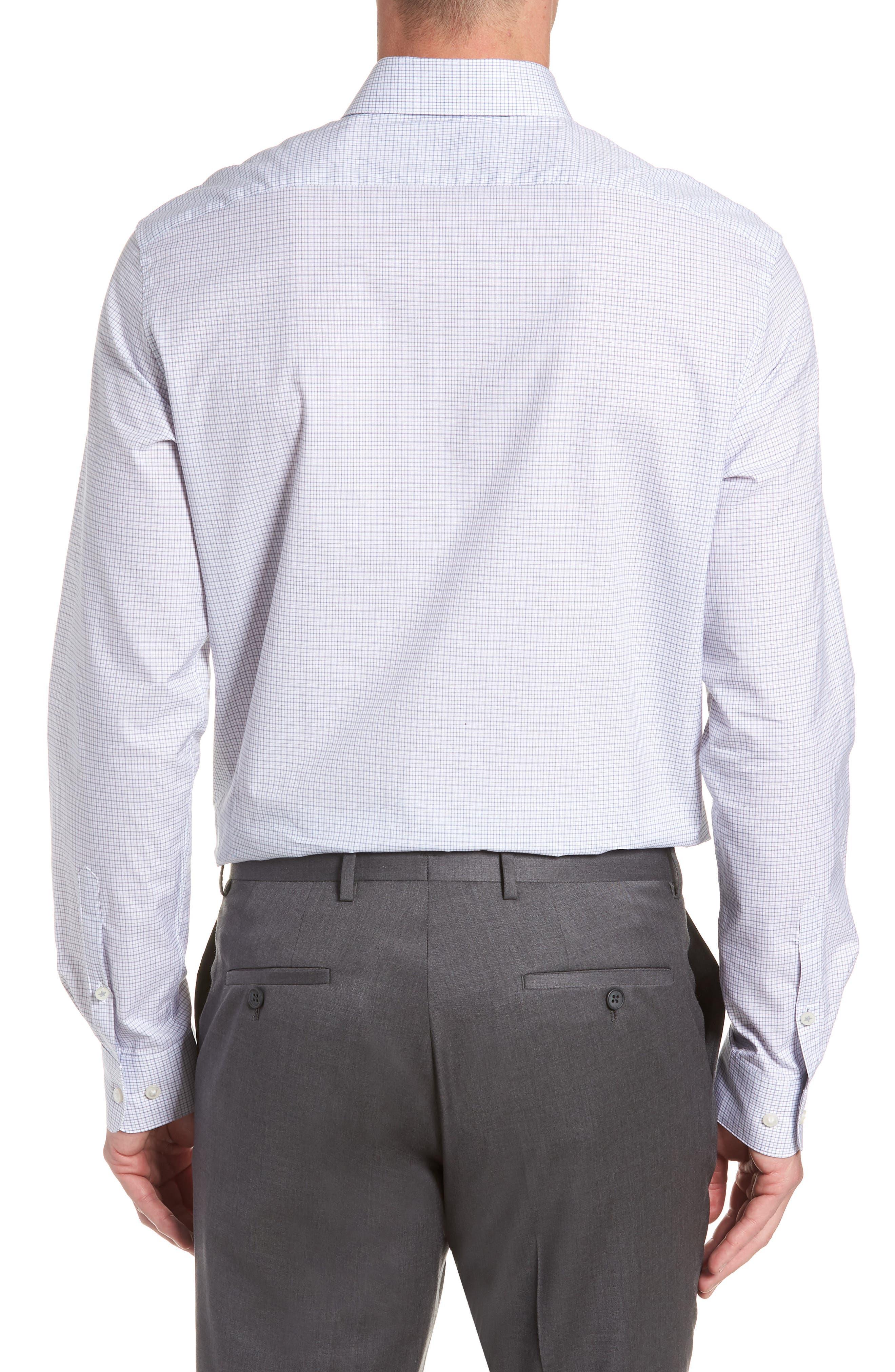 JOHN VARVATOS STAR USA,                             Micro Plaid Regular Fit Dress Shirt,                             Alternate thumbnail 3, color,                             428