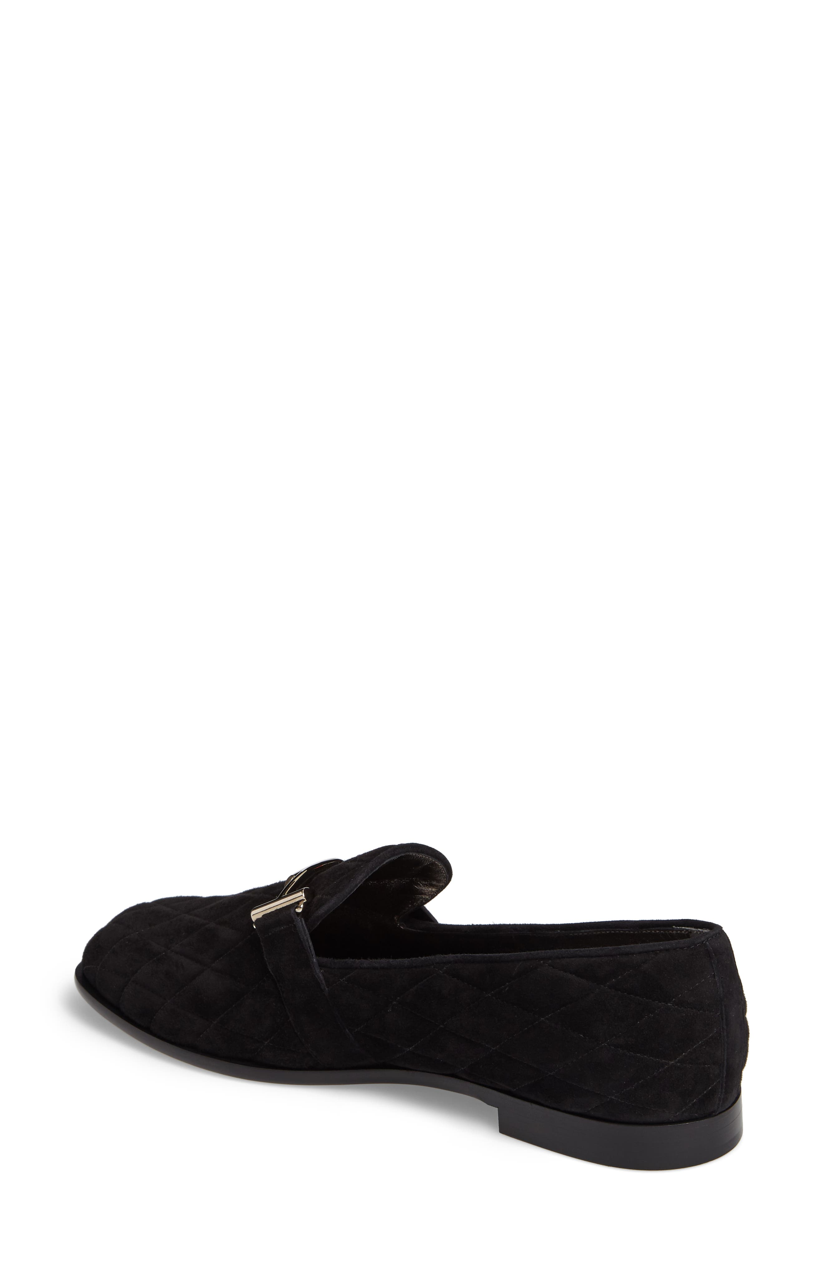 Quilted Double T Loafer,                             Alternate thumbnail 2, color,                             001