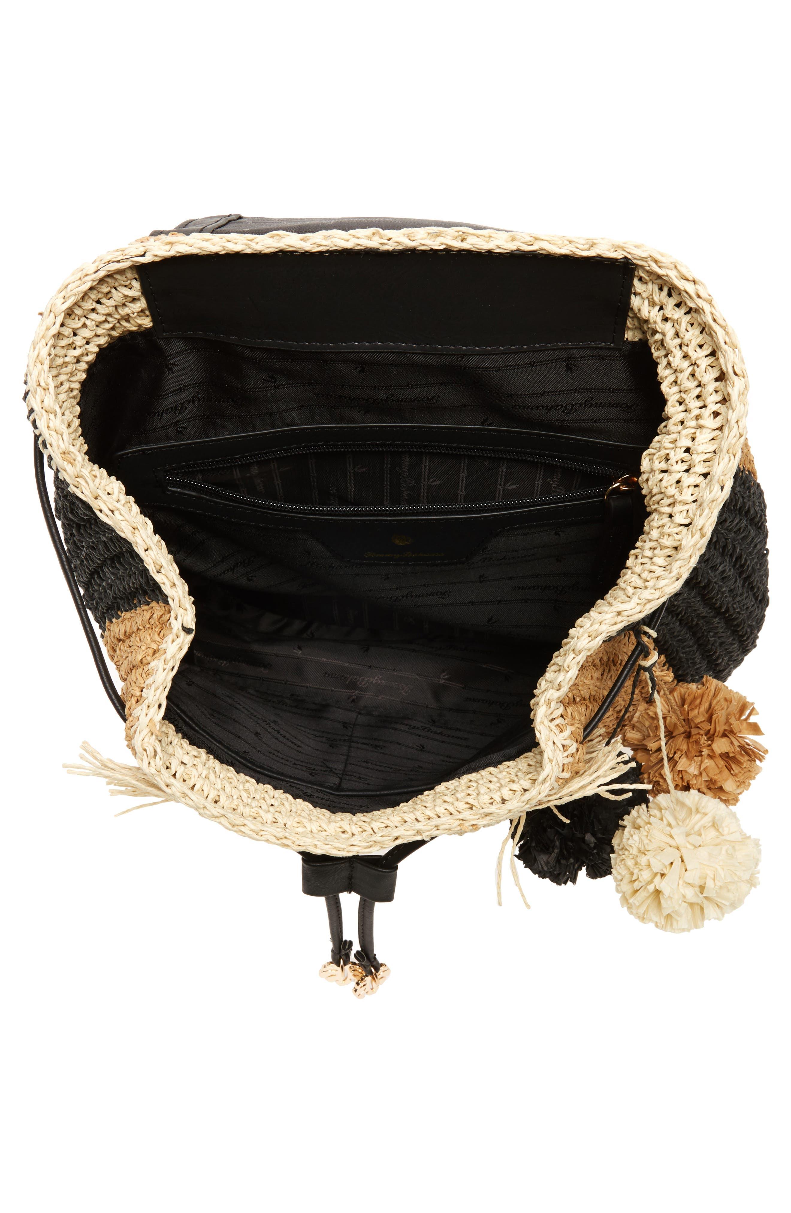 Bahama Mama Straw Backpack,                             Alternate thumbnail 4, color,                             001
