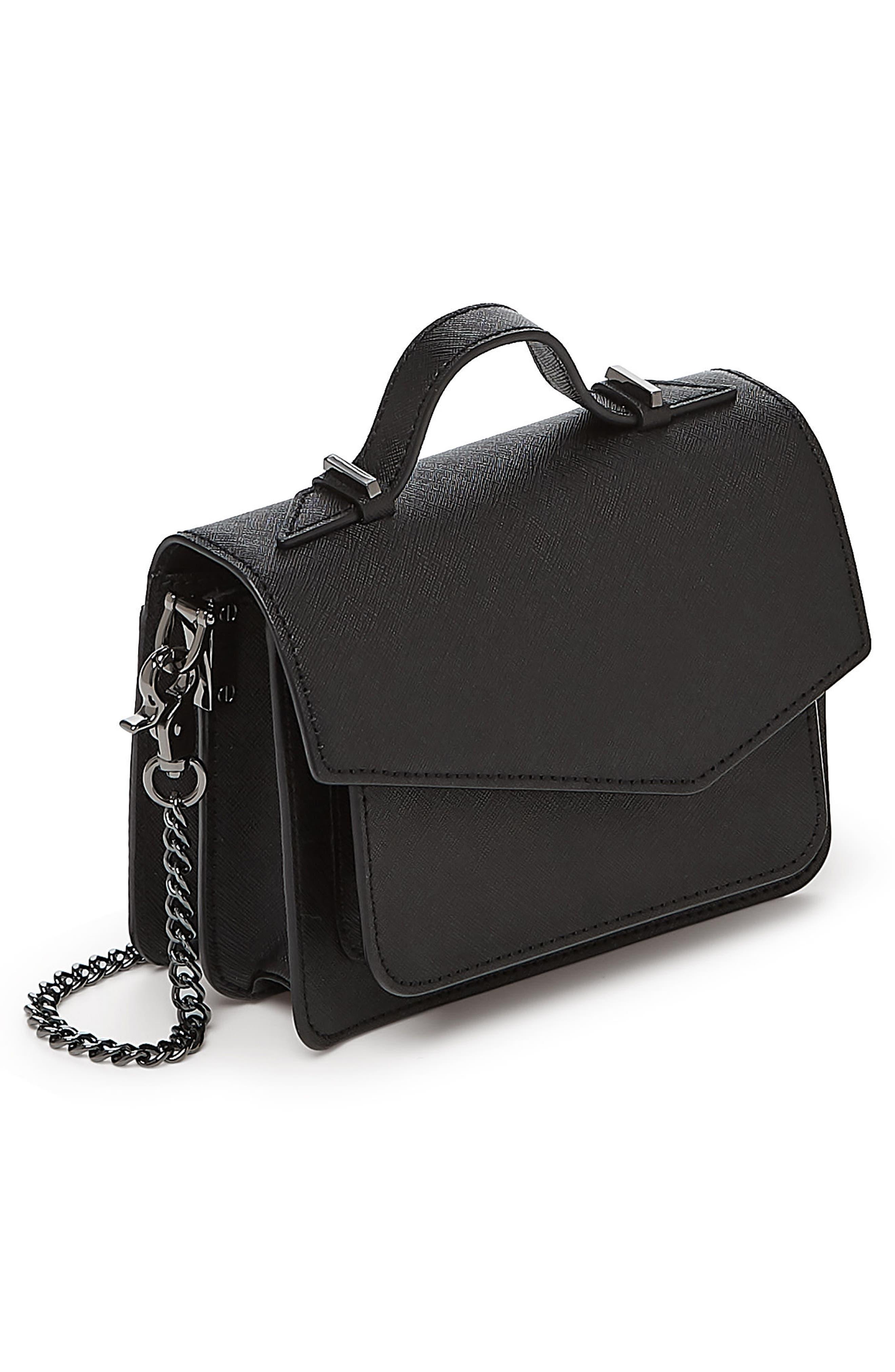 Mini Cobble Hill Calfskin Leather Crossbody Bag,                             Alternate thumbnail 4, color,                             001