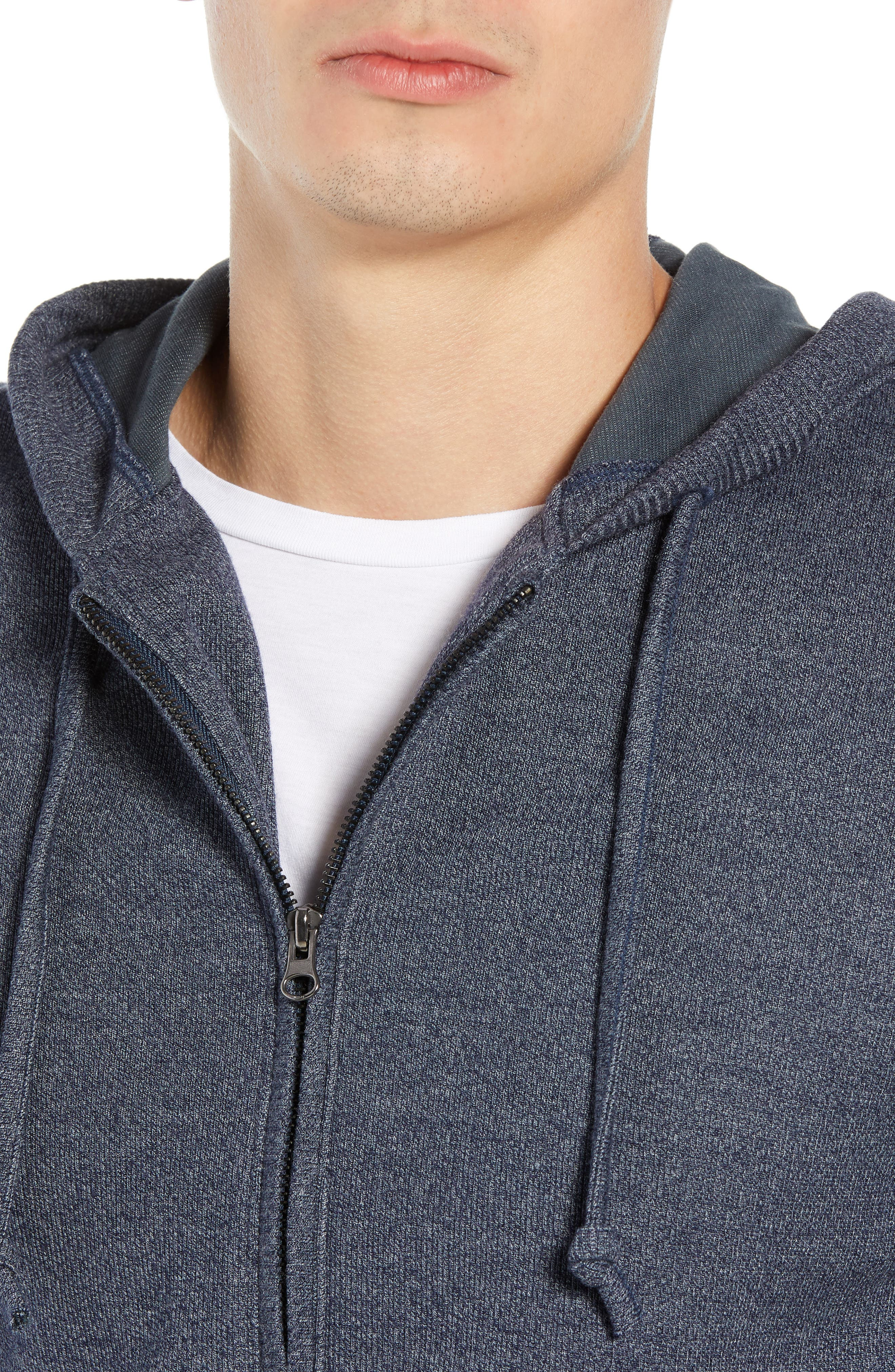 TRAVIS MATHEW,                             Snare Zip Front Hooded Cardigan,                             Alternate thumbnail 4, color,                             400