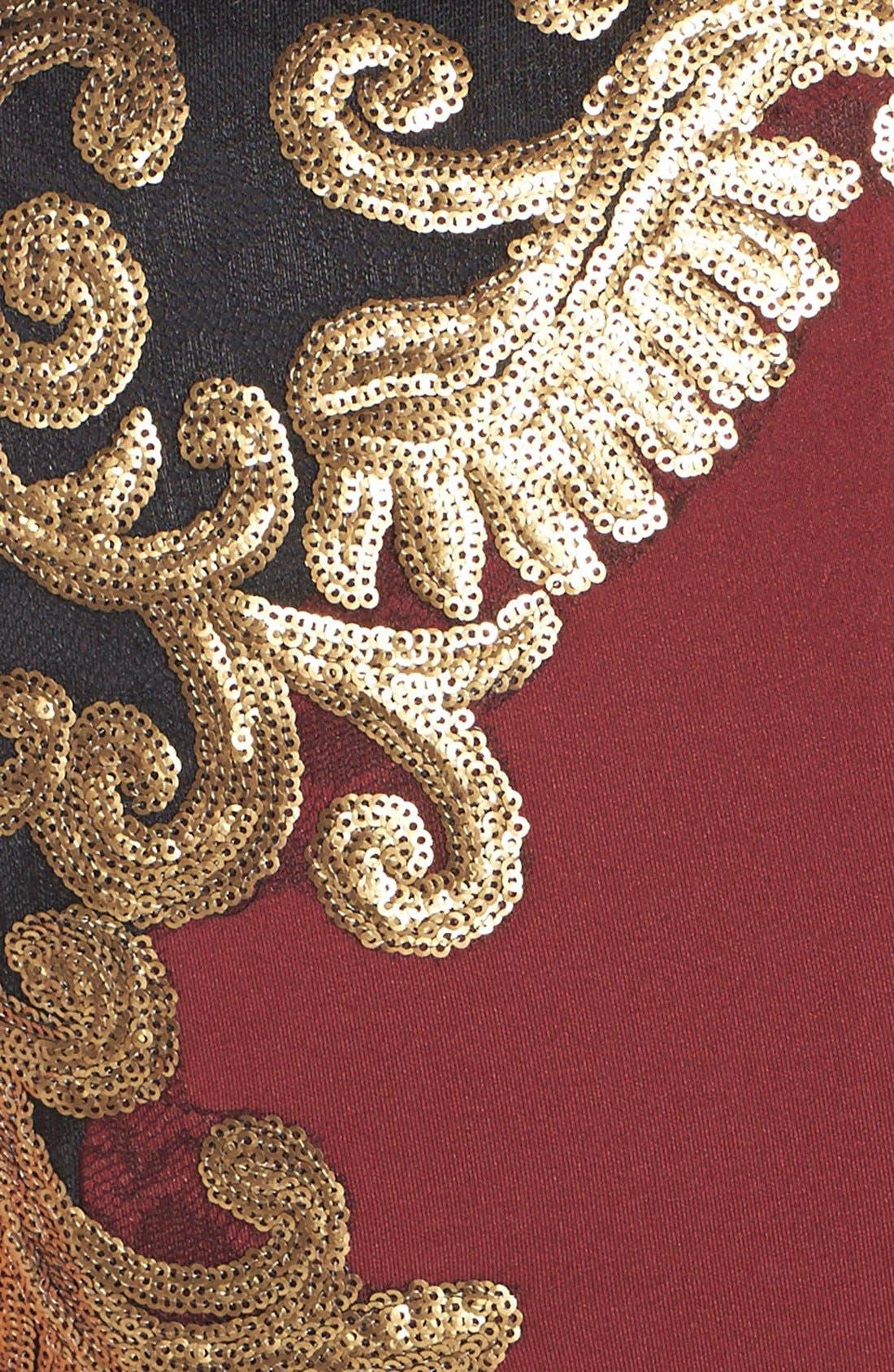 Sequin Neoprene Dress,                             Alternate thumbnail 4, color,                             205