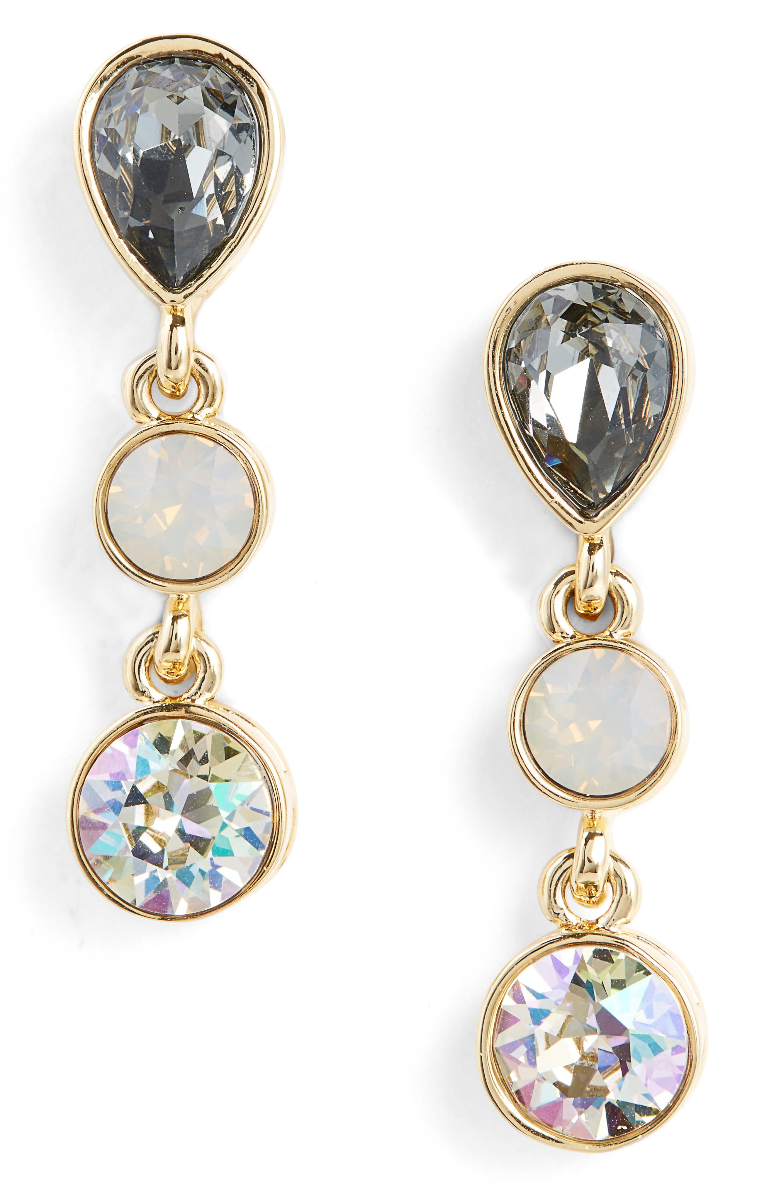 Swarovski Crystal Drop Earrings,                             Main thumbnail 1, color,                             710