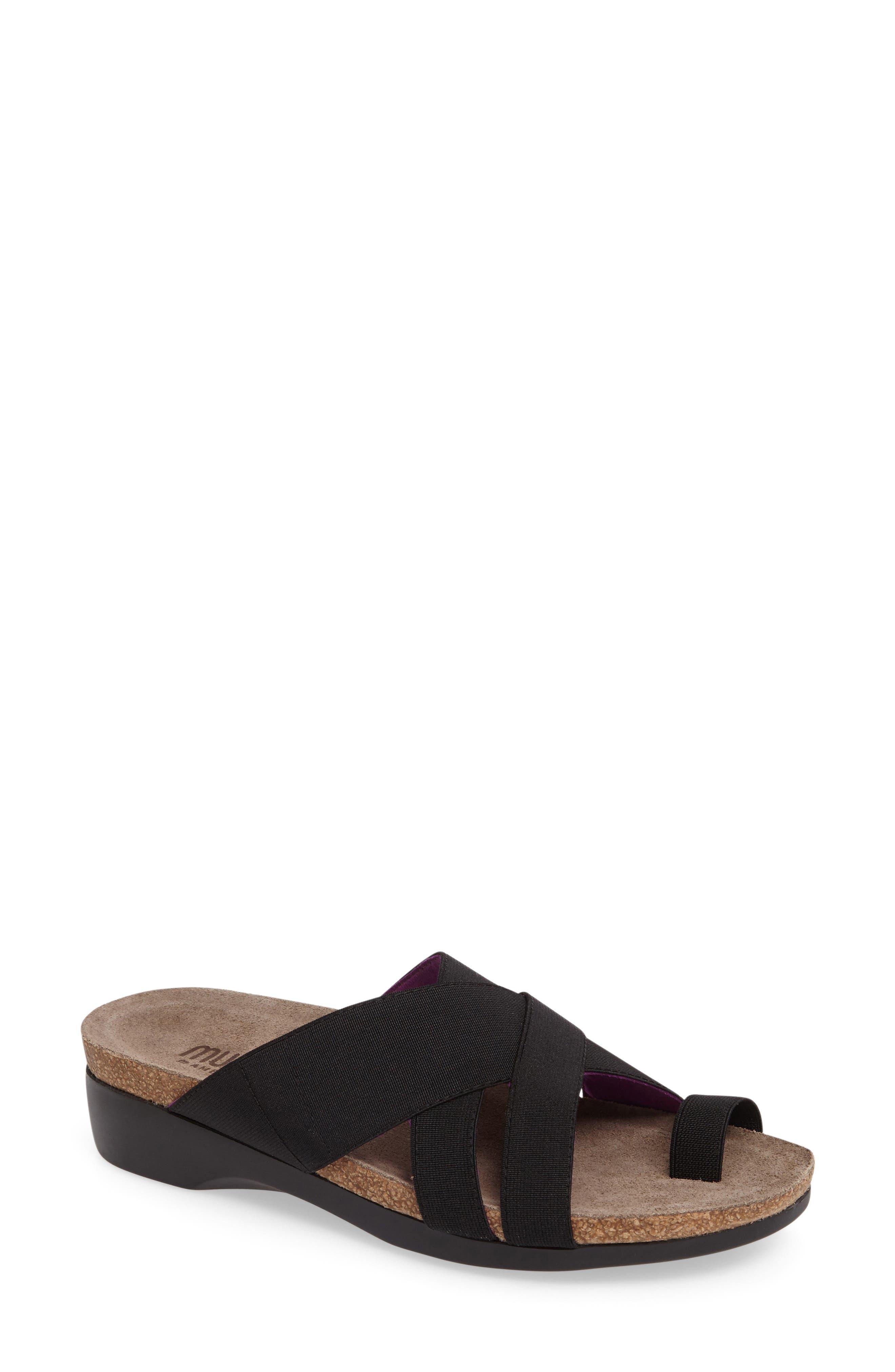 Delphi Slide Sandal,                             Main thumbnail 1, color,                             001
