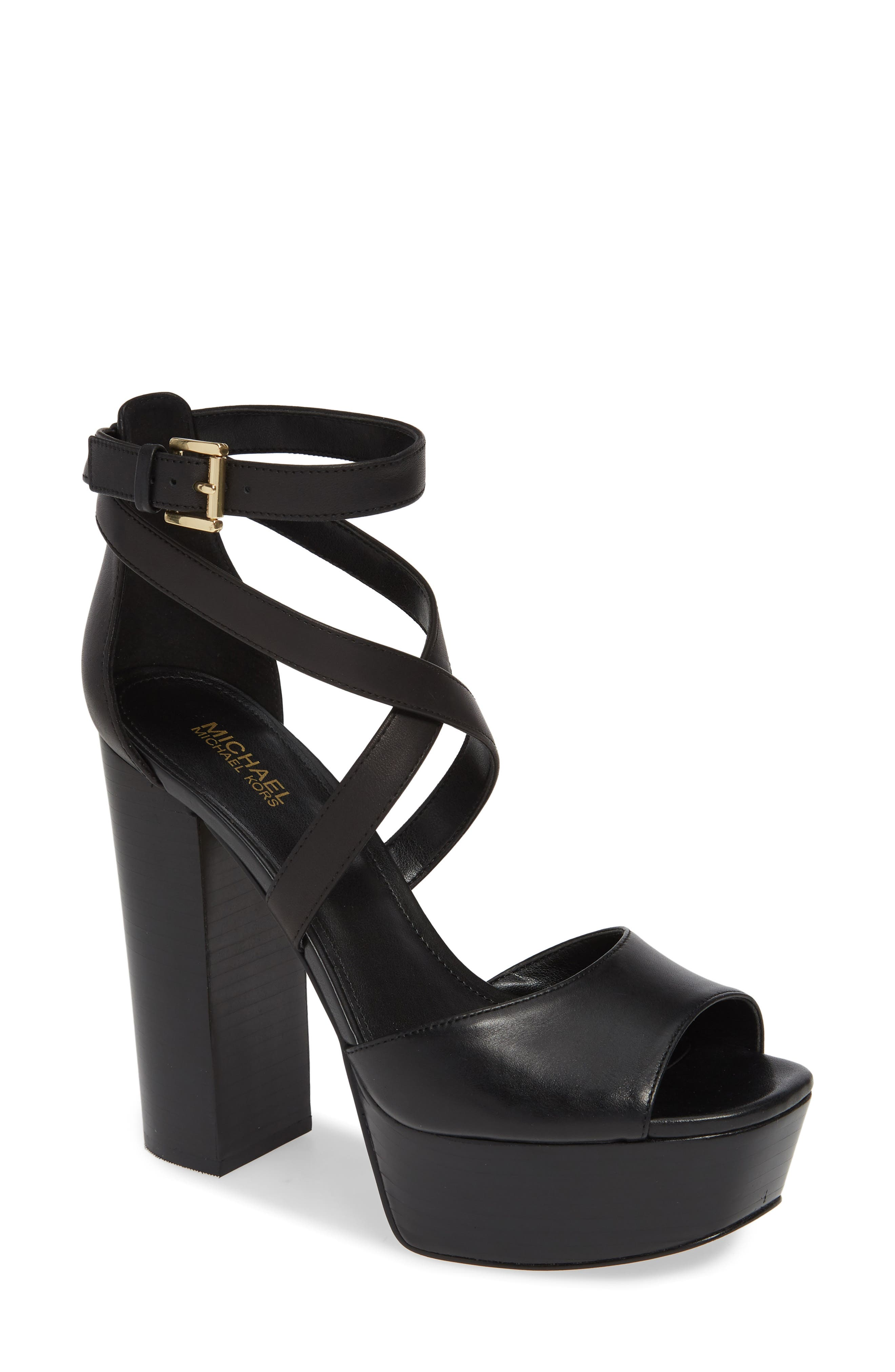 Michael Michael Kors Burke Platform Sandal, Black