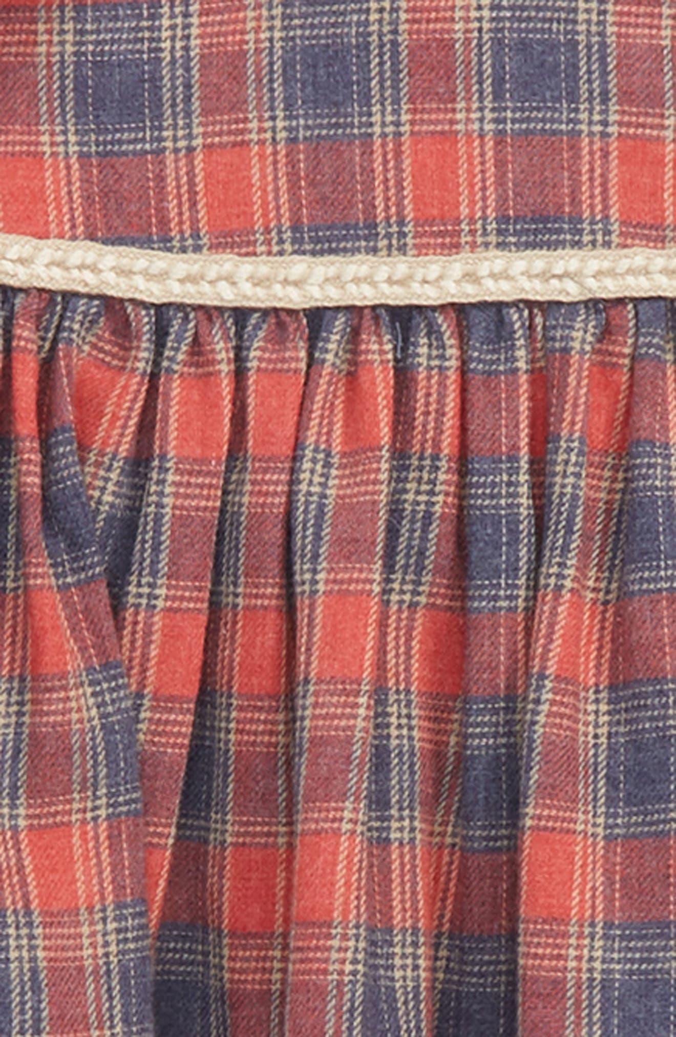 Faux Fur Vest & Plaid Dress Set,                             Alternate thumbnail 2, color,                             900