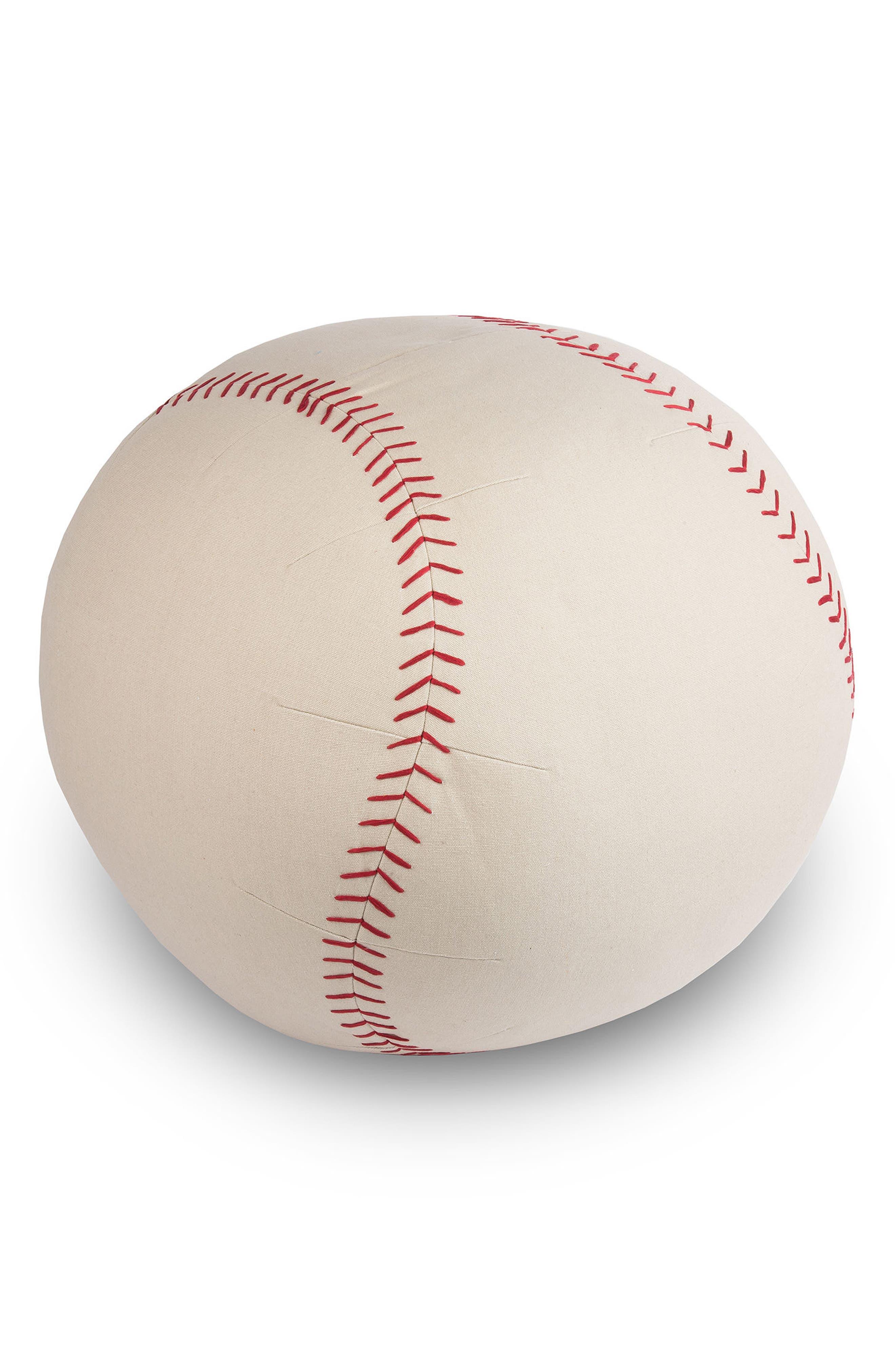 Baseball Pouf,                             Main thumbnail 1, color,                             KHAKI