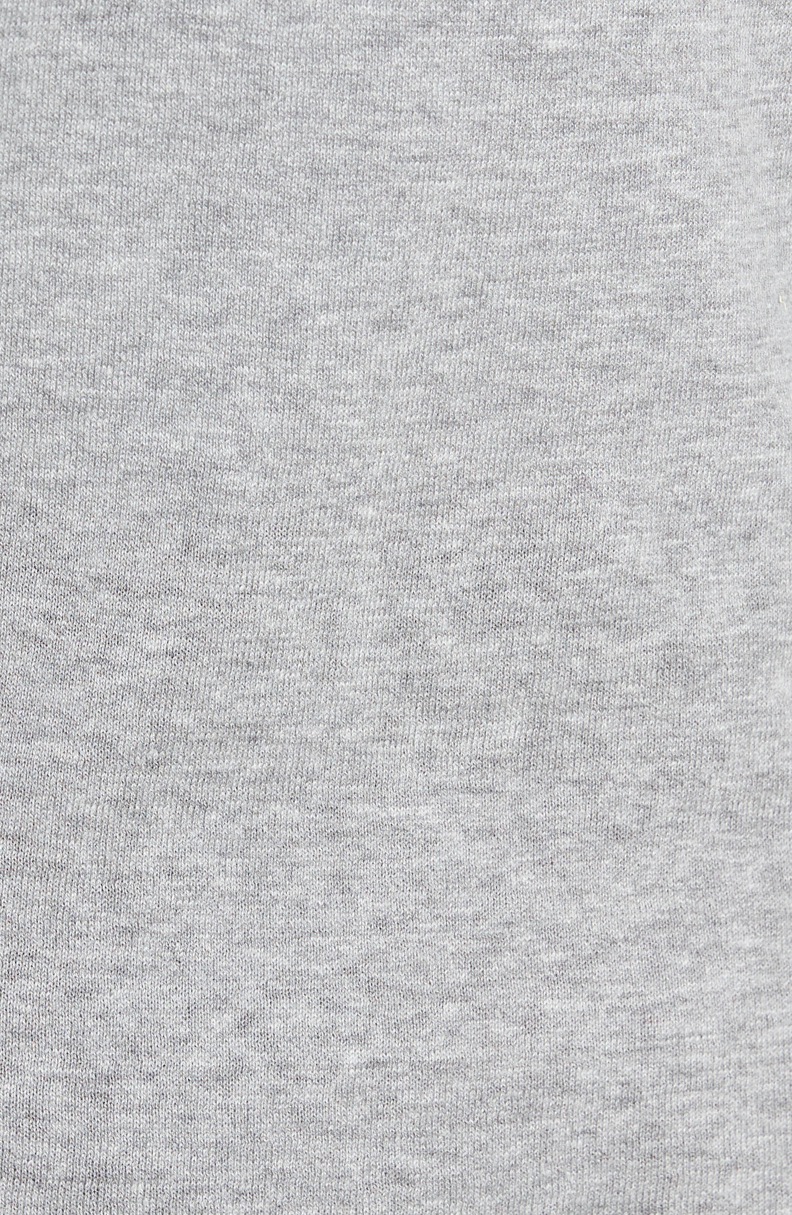 Long Sleeve Cotton & Linen Blend Henley,                             Alternate thumbnail 5, color,                             030
