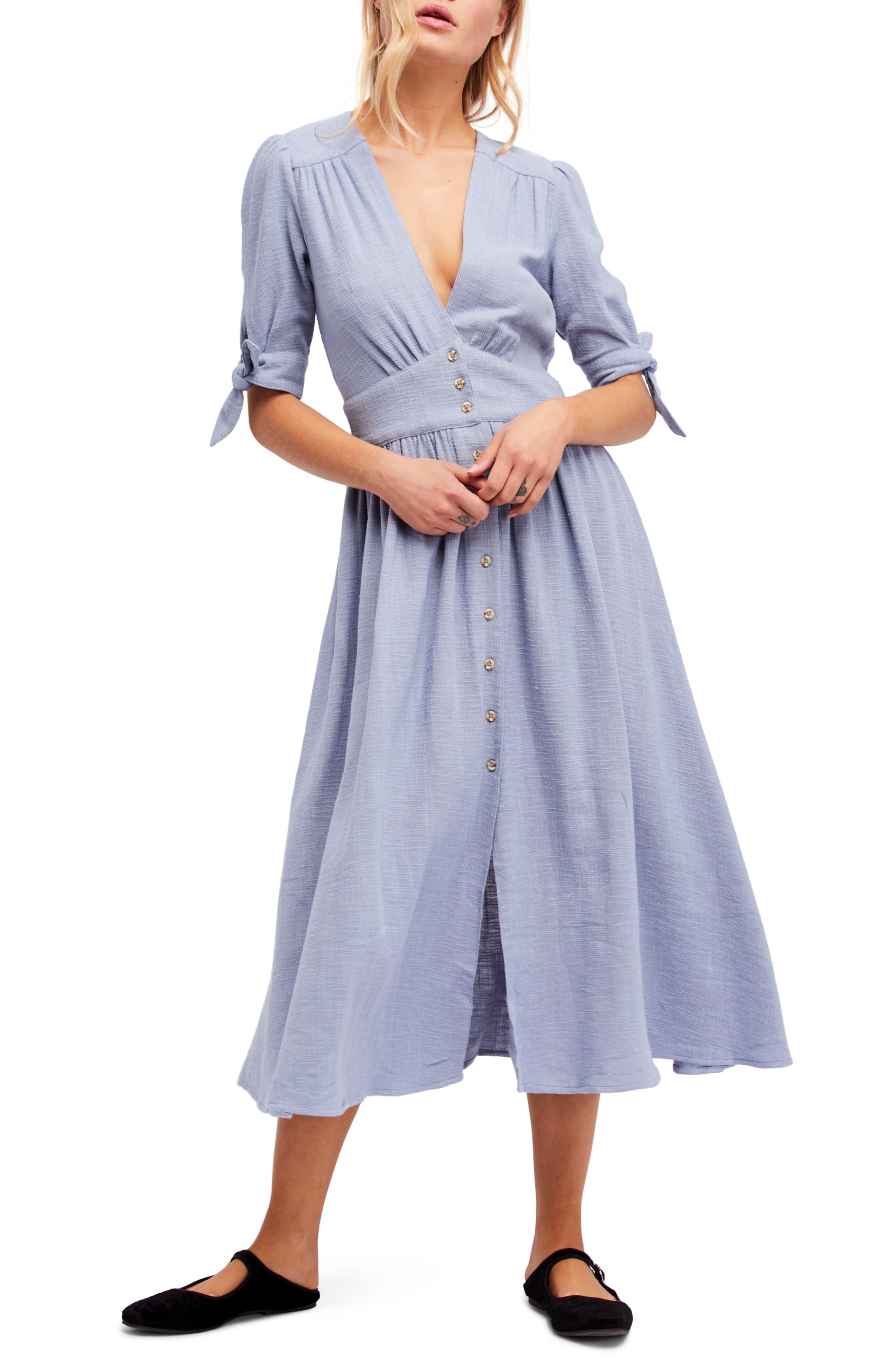 Love of My Life Midi Dress,                             Alternate thumbnail 6, color,                             BLUE