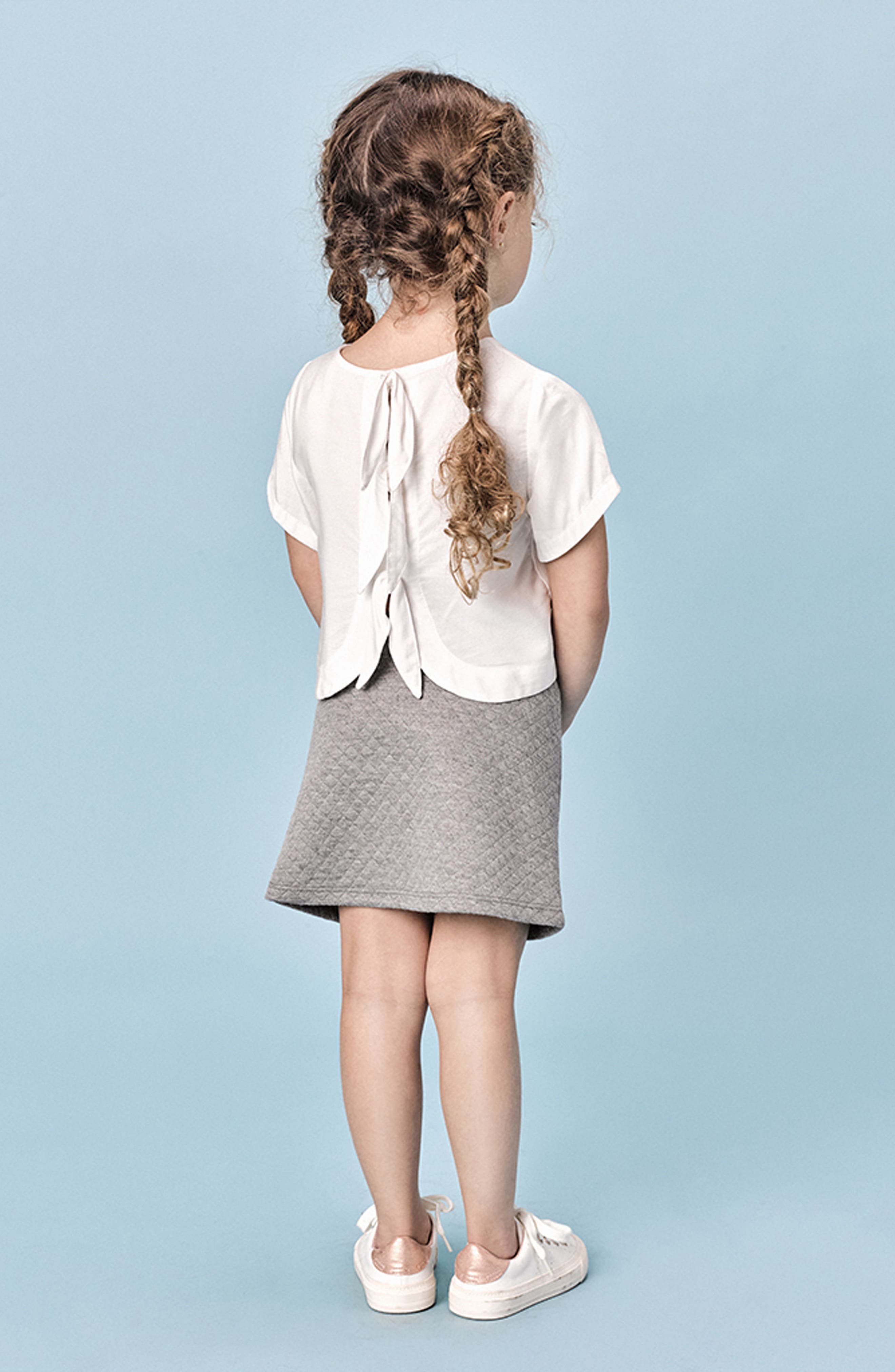 Victoria Quilted Fleece Skirt,                             Alternate thumbnail 4, color,