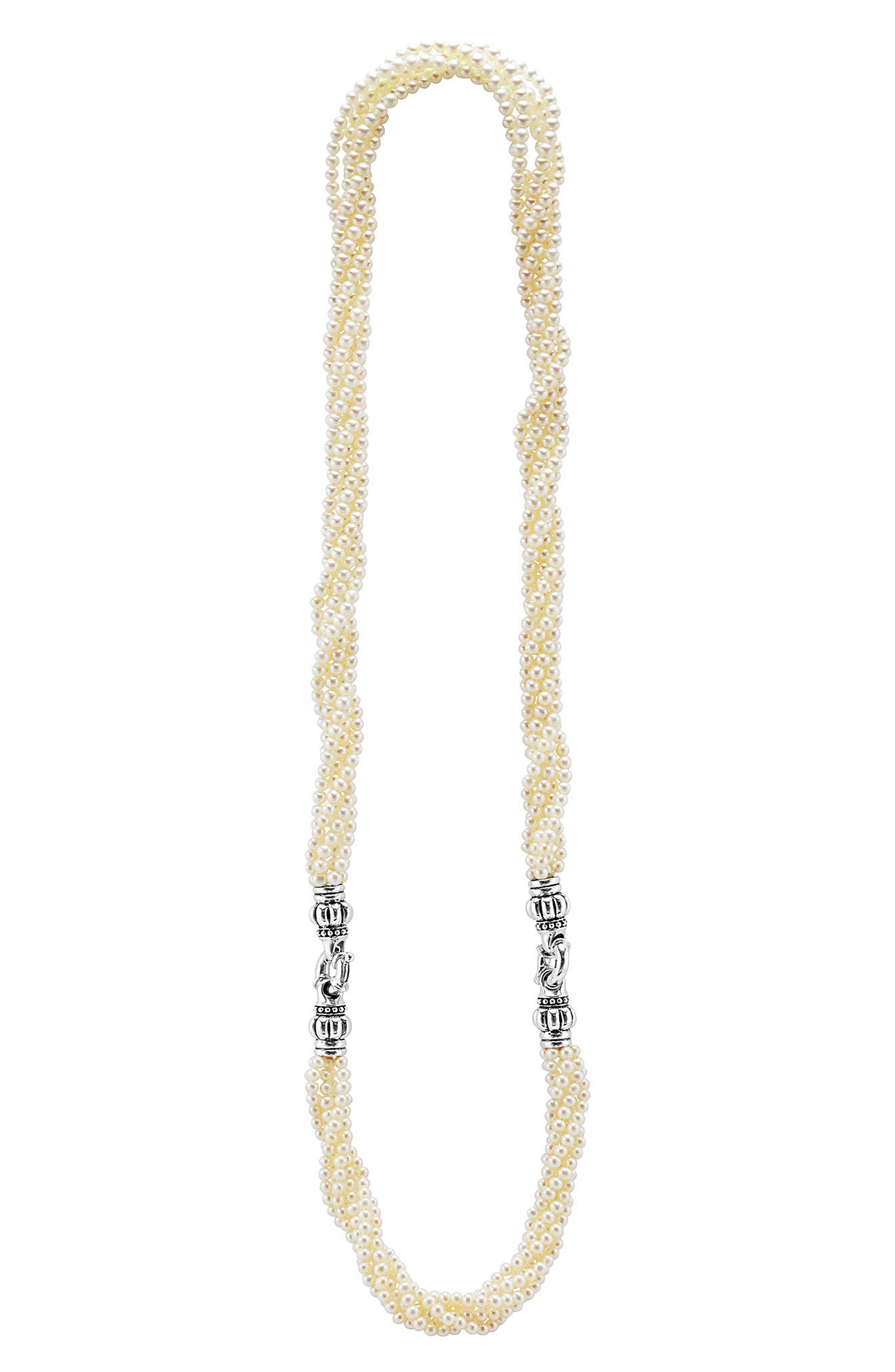 Luna Pearl Convertible Bracelet & Necklace,                             Alternate thumbnail 2, color,                             040