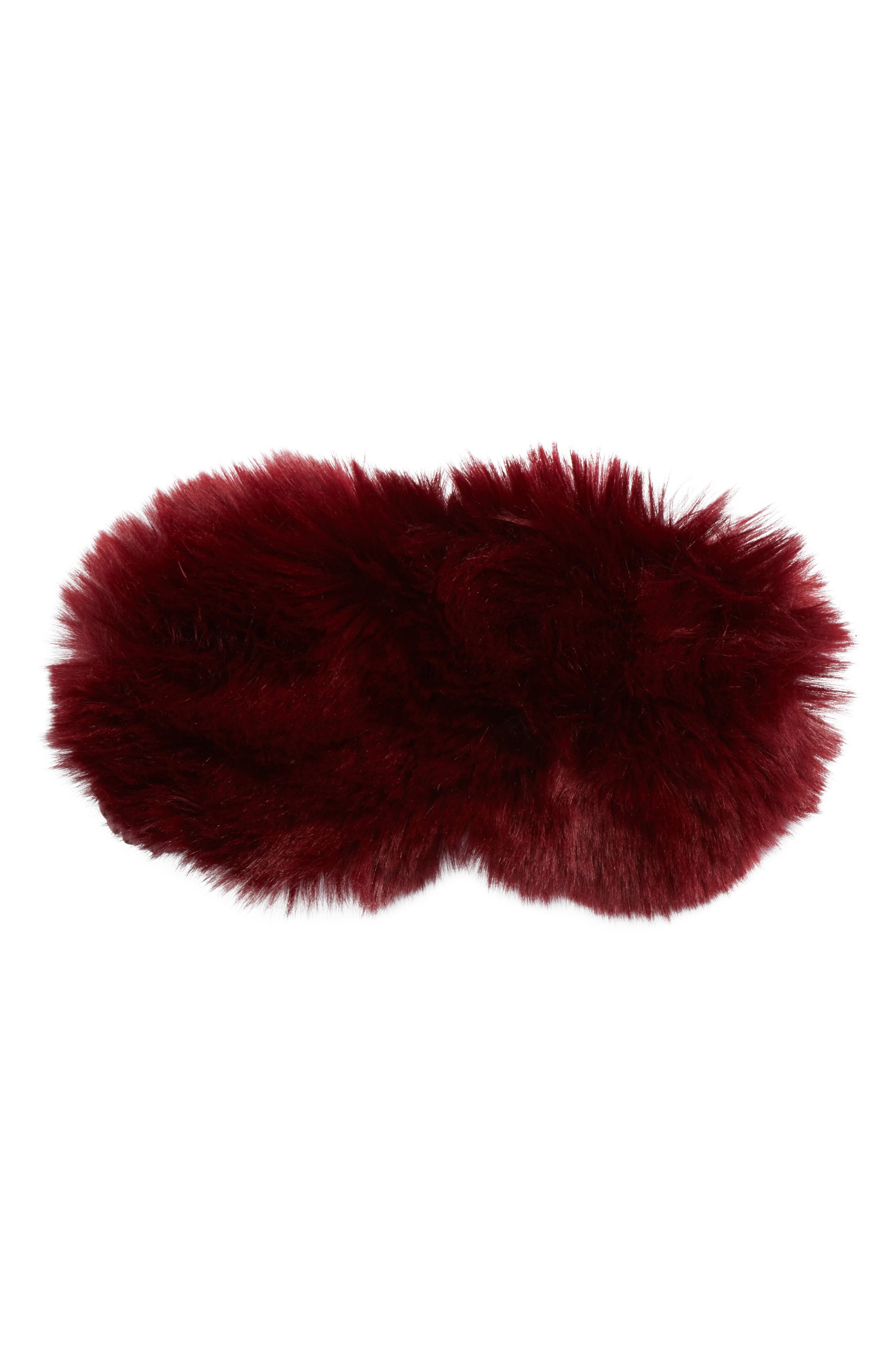 Nordstrom Faux Fur Eye Mask,                             Main thumbnail 2, color,