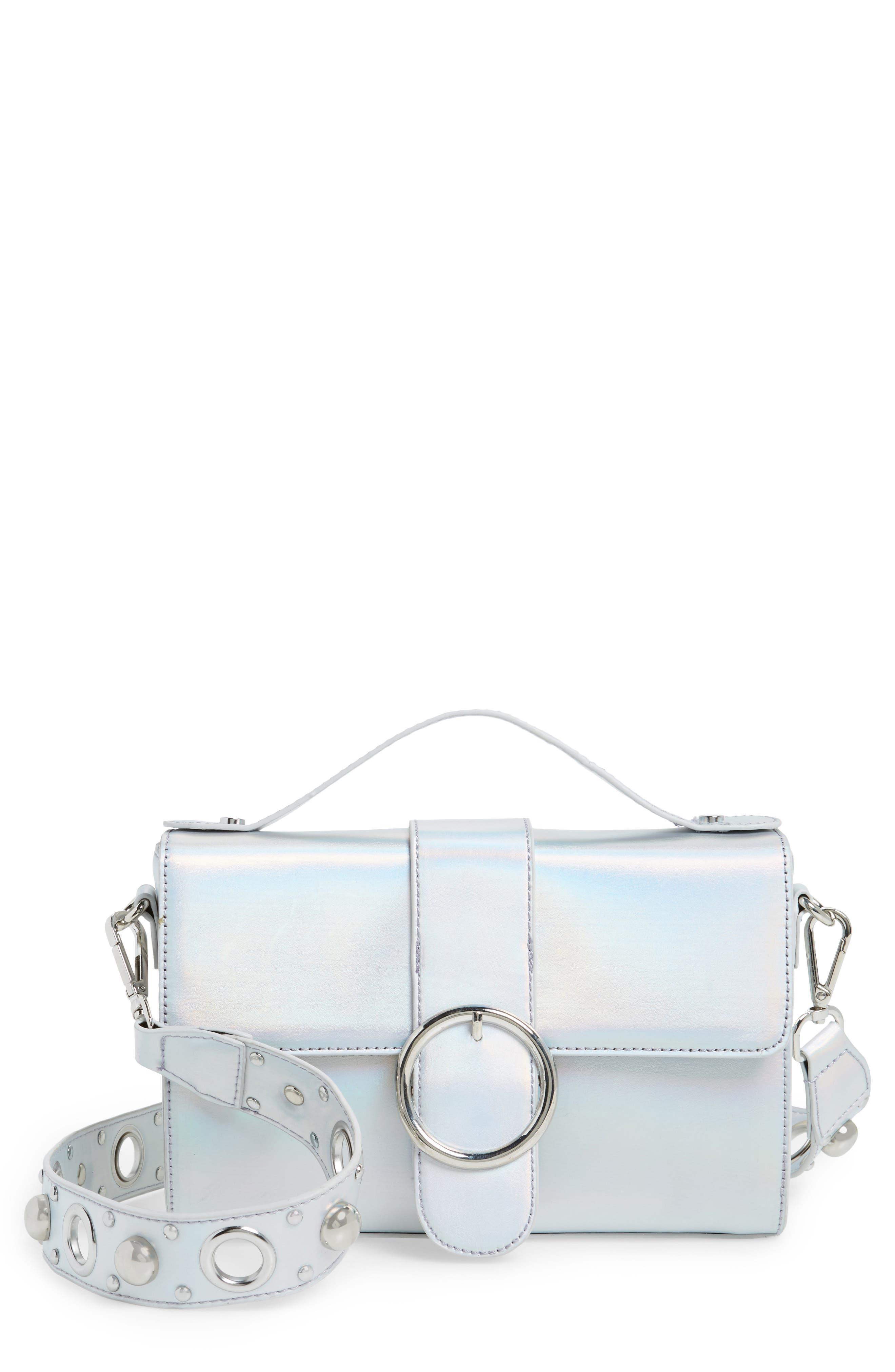 Studded Strap Crossbody Bag,                         Main,                         color, 040