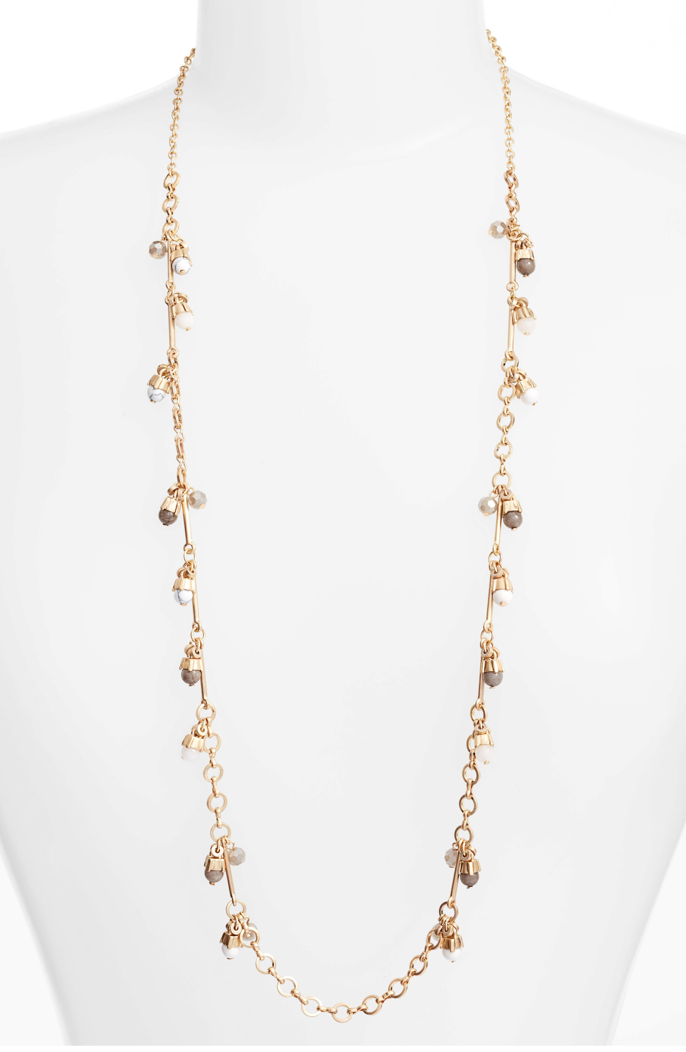 Stone Drop Station Necklace,                         Main,                         color, 030