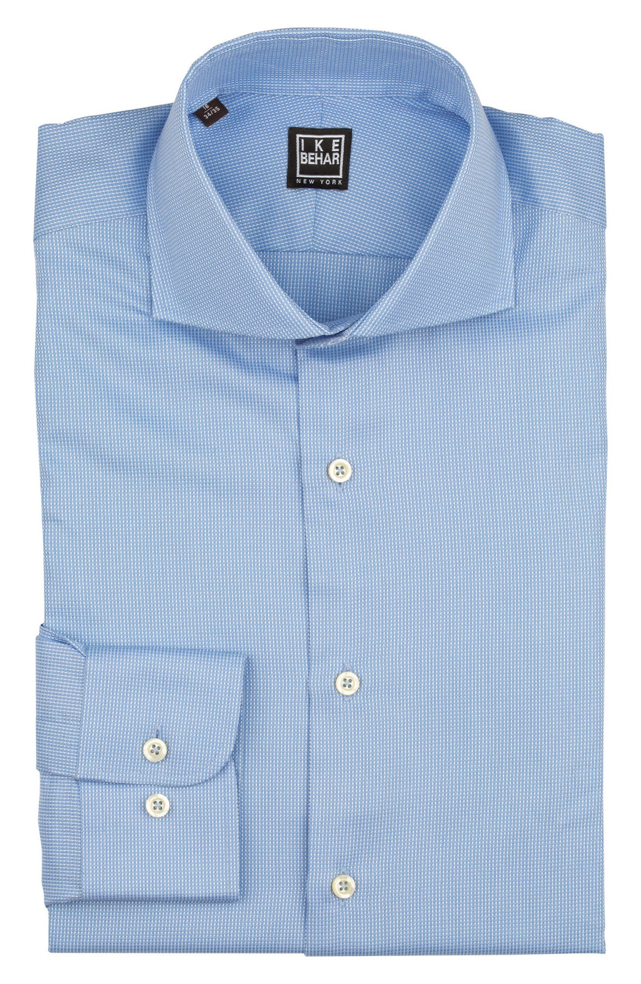Regular Fit Solid Dress Shirt,                             Alternate thumbnail 5, color,                             BLUE
