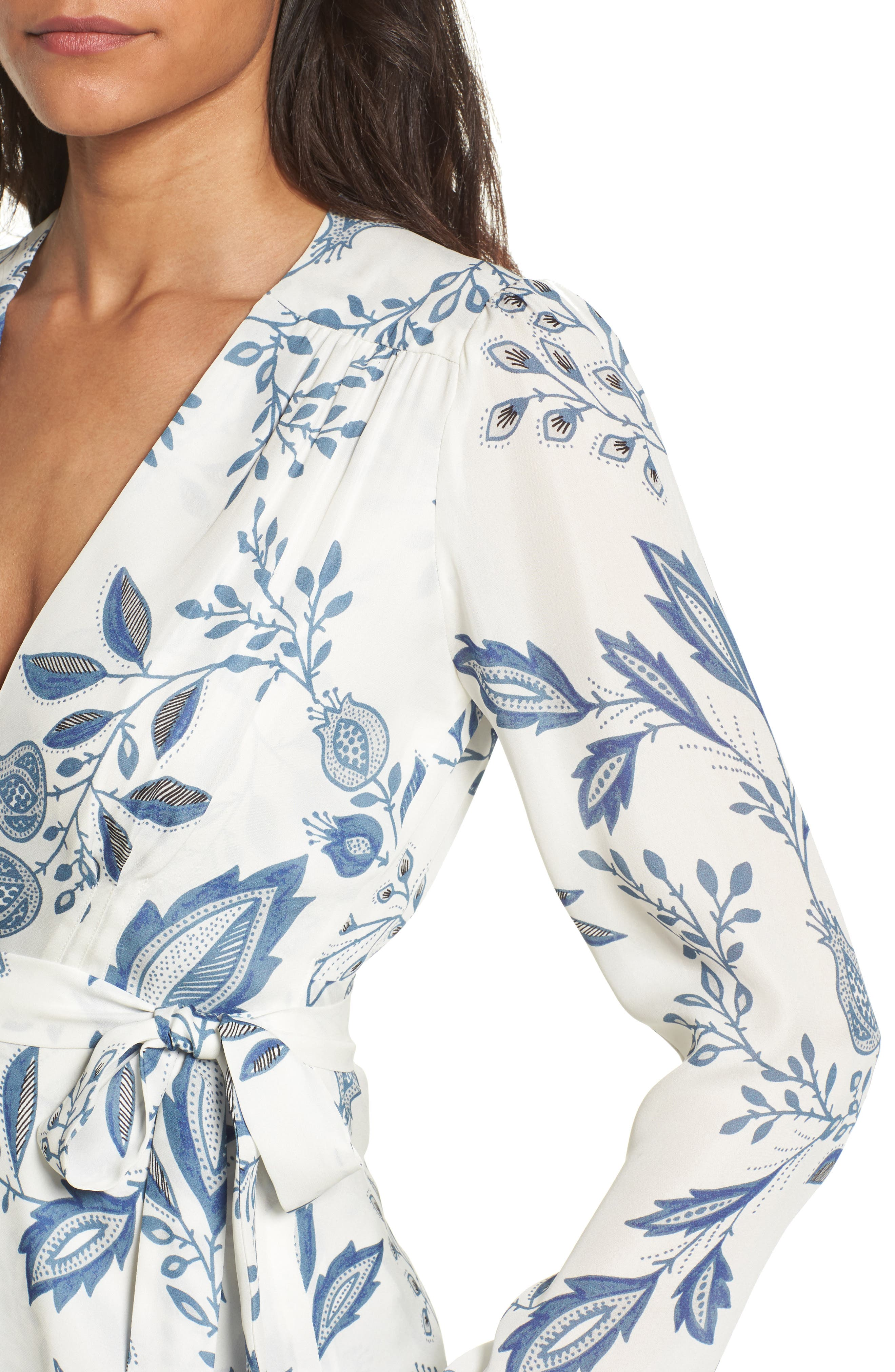Dover Silk Wrap Blouse,                             Alternate thumbnail 4, color,                             900