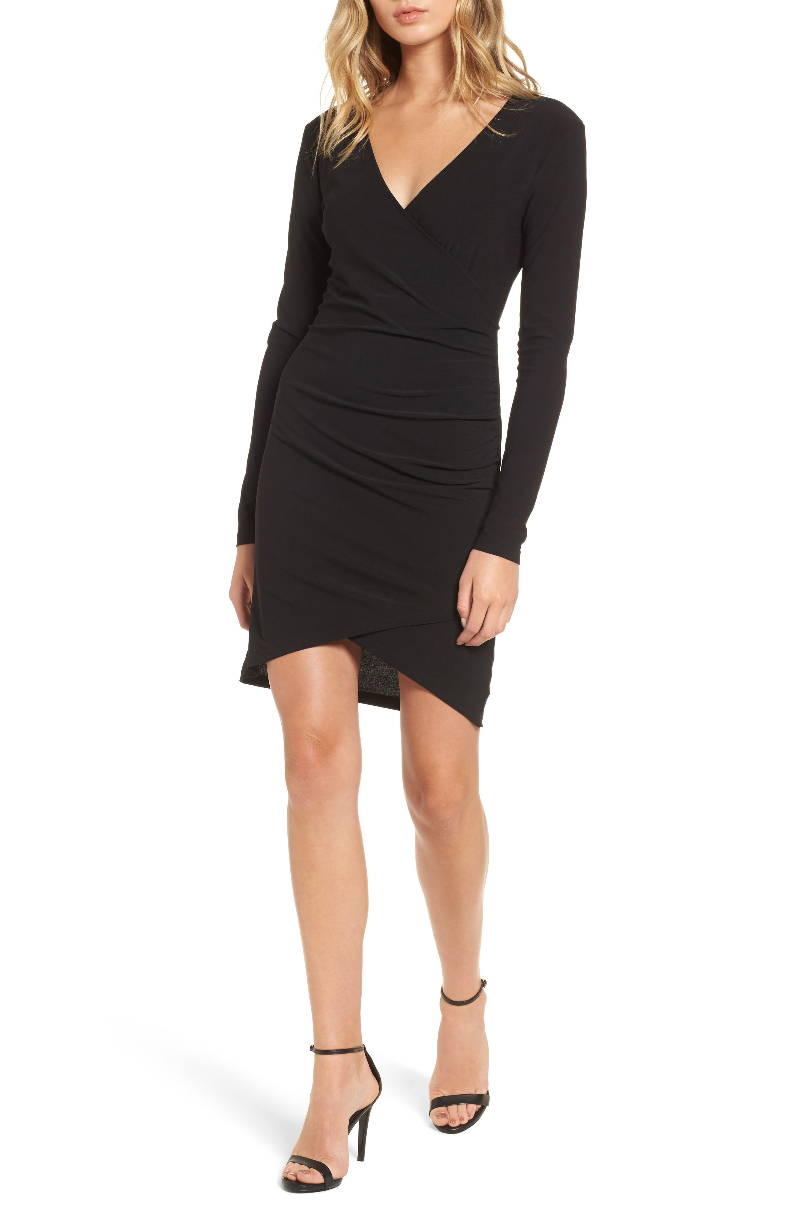 Ruched Sheath Dress,                         Main,                         color, 001