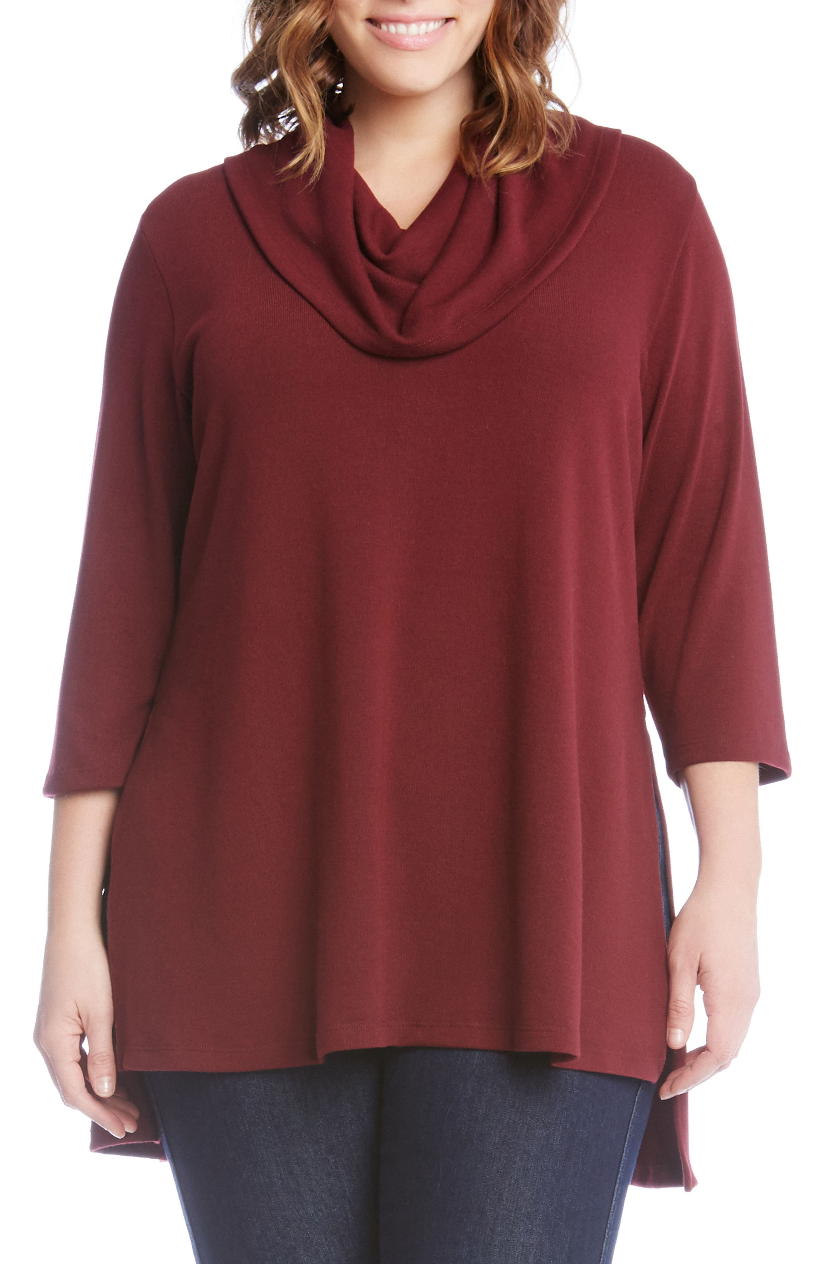 Cowl Neck High/Low Sweater,                             Main thumbnail 3, color,