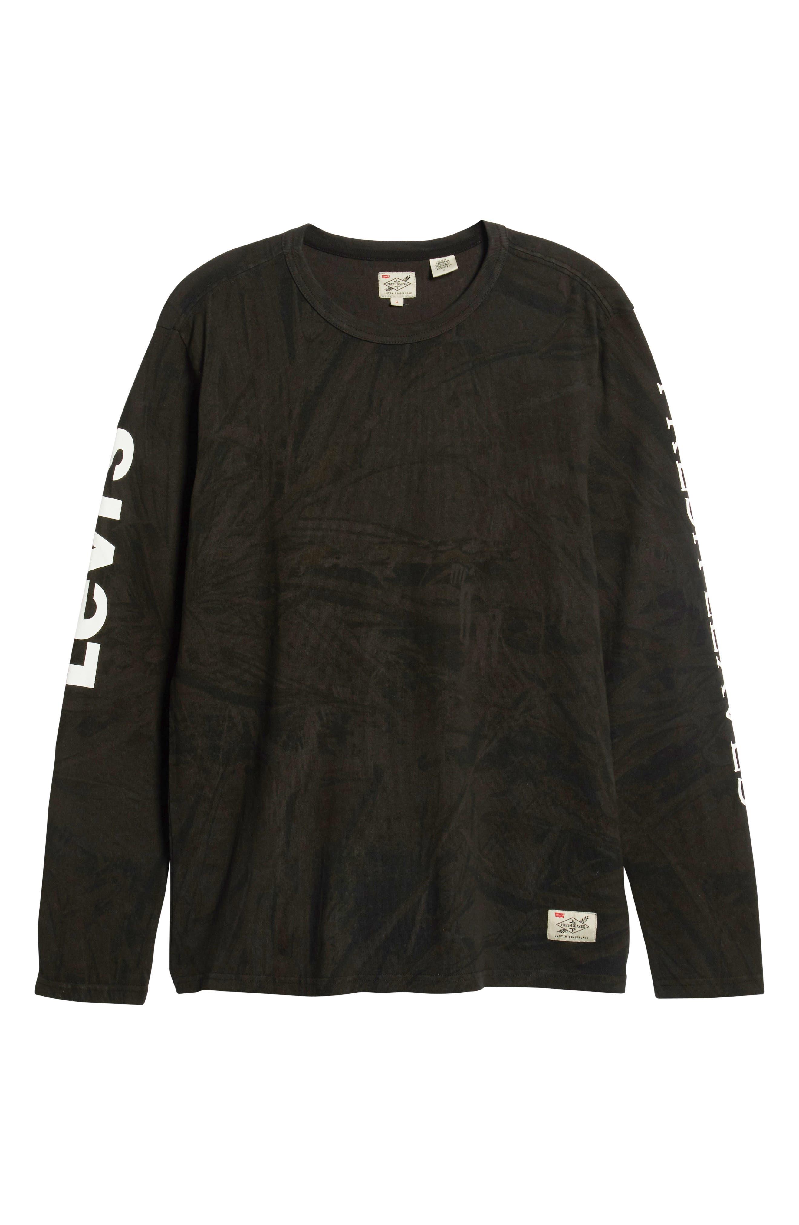 x Justin Timberlake Camo Long Sleeve T-Shirt,                             Alternate thumbnail 7, color,                             BLACK