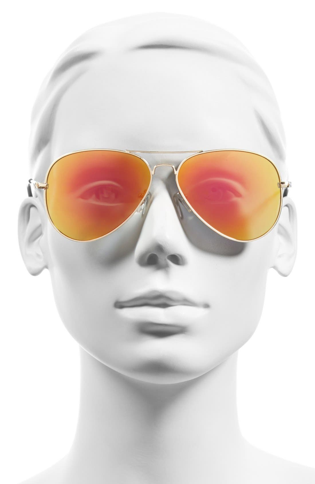 Mirrored Aviator 57mm Sunglasses,                             Alternate thumbnail 24, color,