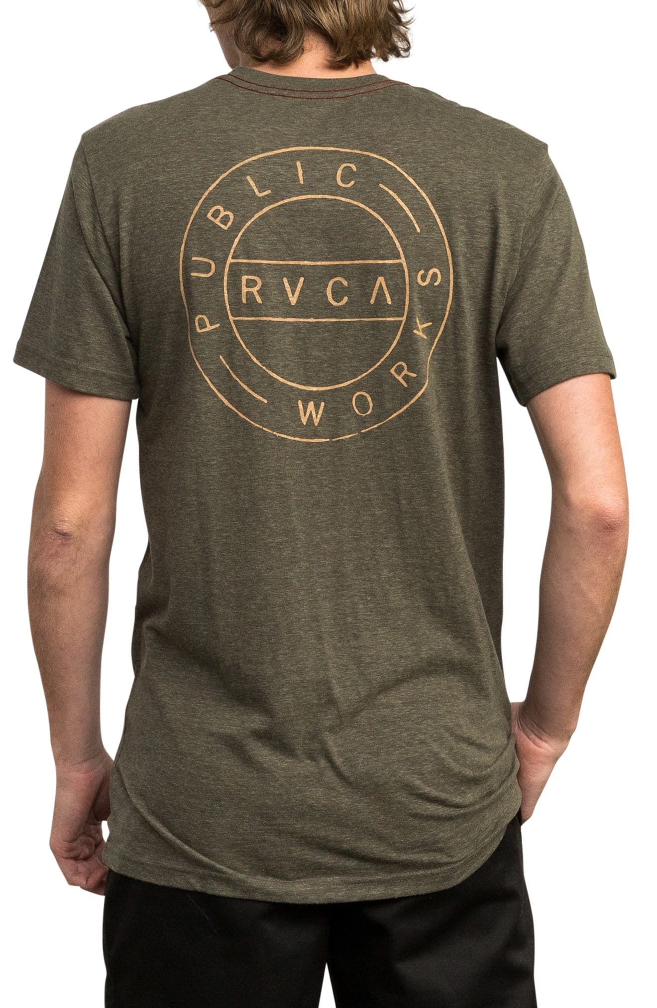 Public Works Graphic T-Shirt,                             Alternate thumbnail 2, color,                             OLIVE HEATHER