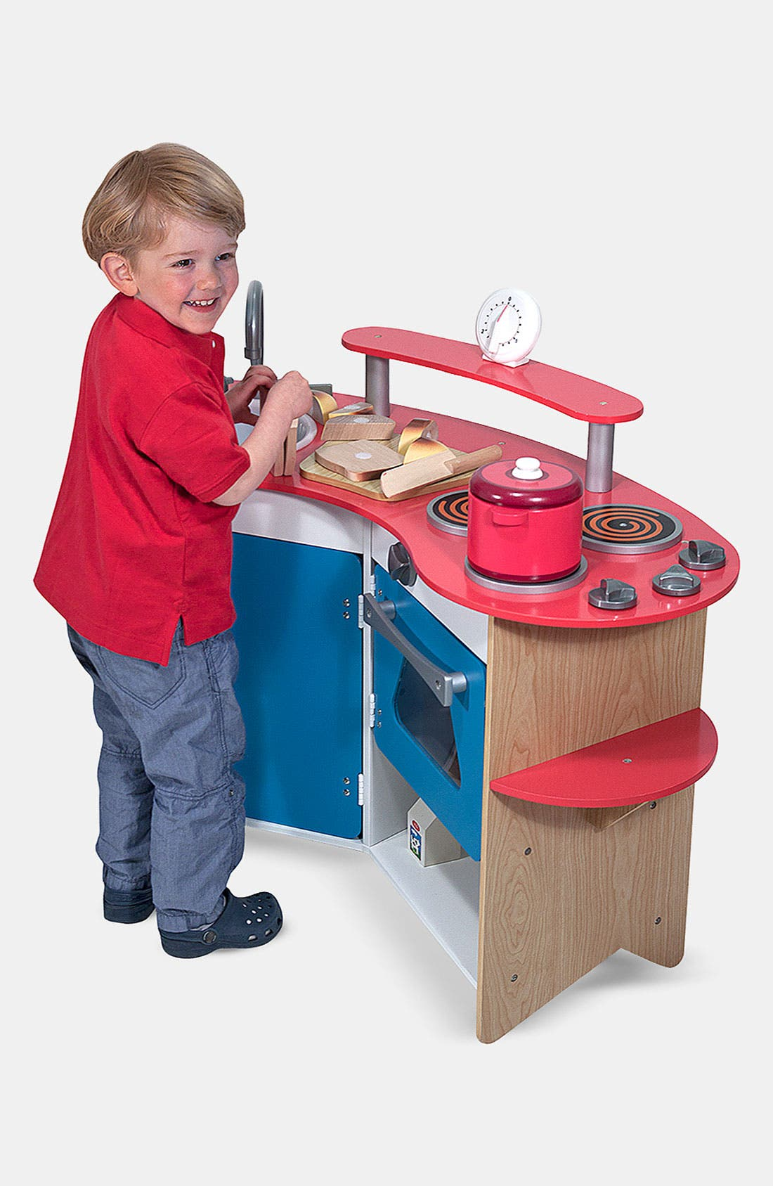 'Cook's Corner' Wooden Play Kitchen,                             Main thumbnail 1, color,                             VARIOUS