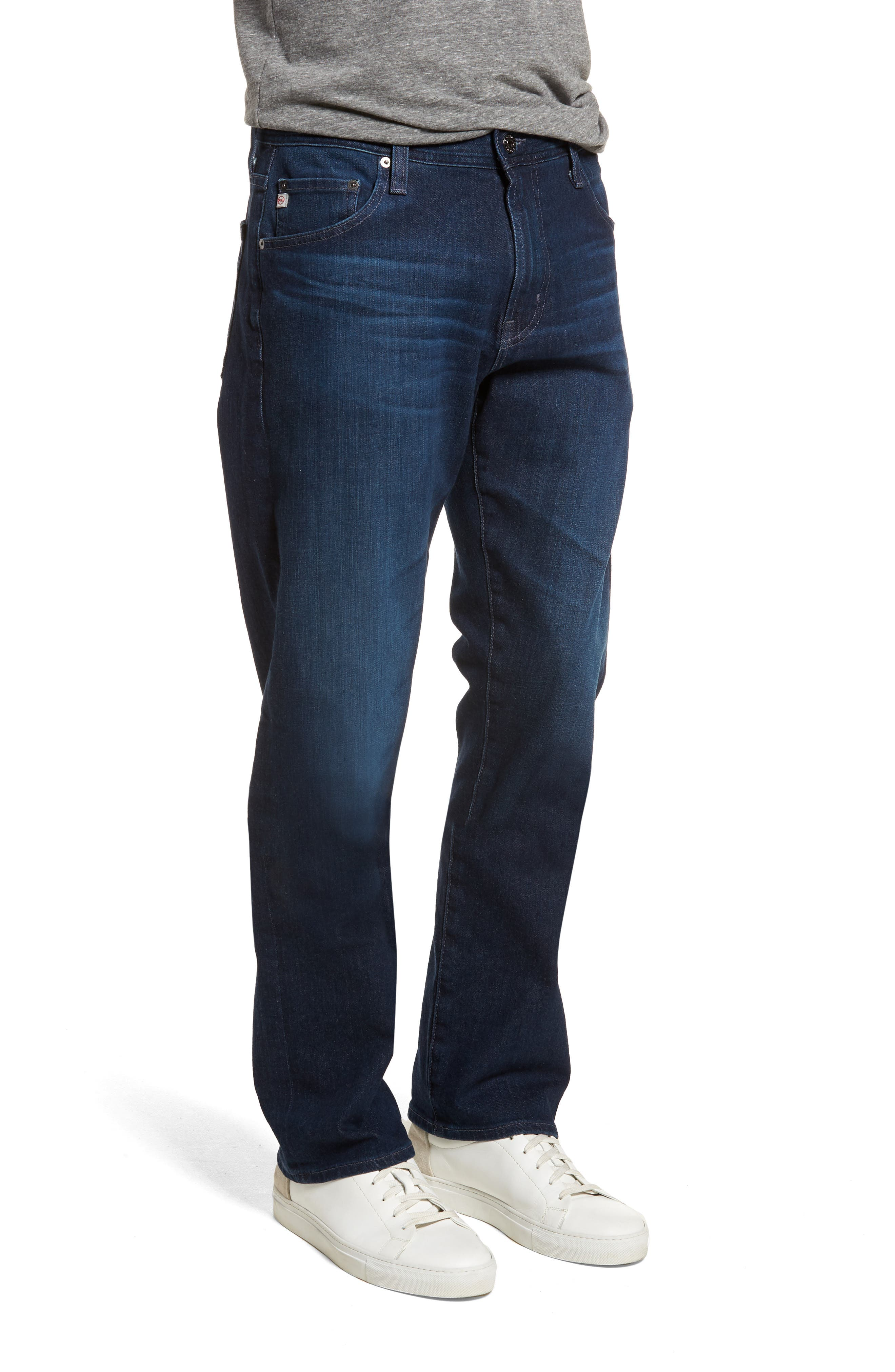Ives Straight Leg Jeans,                             Alternate thumbnail 3, color,                             407