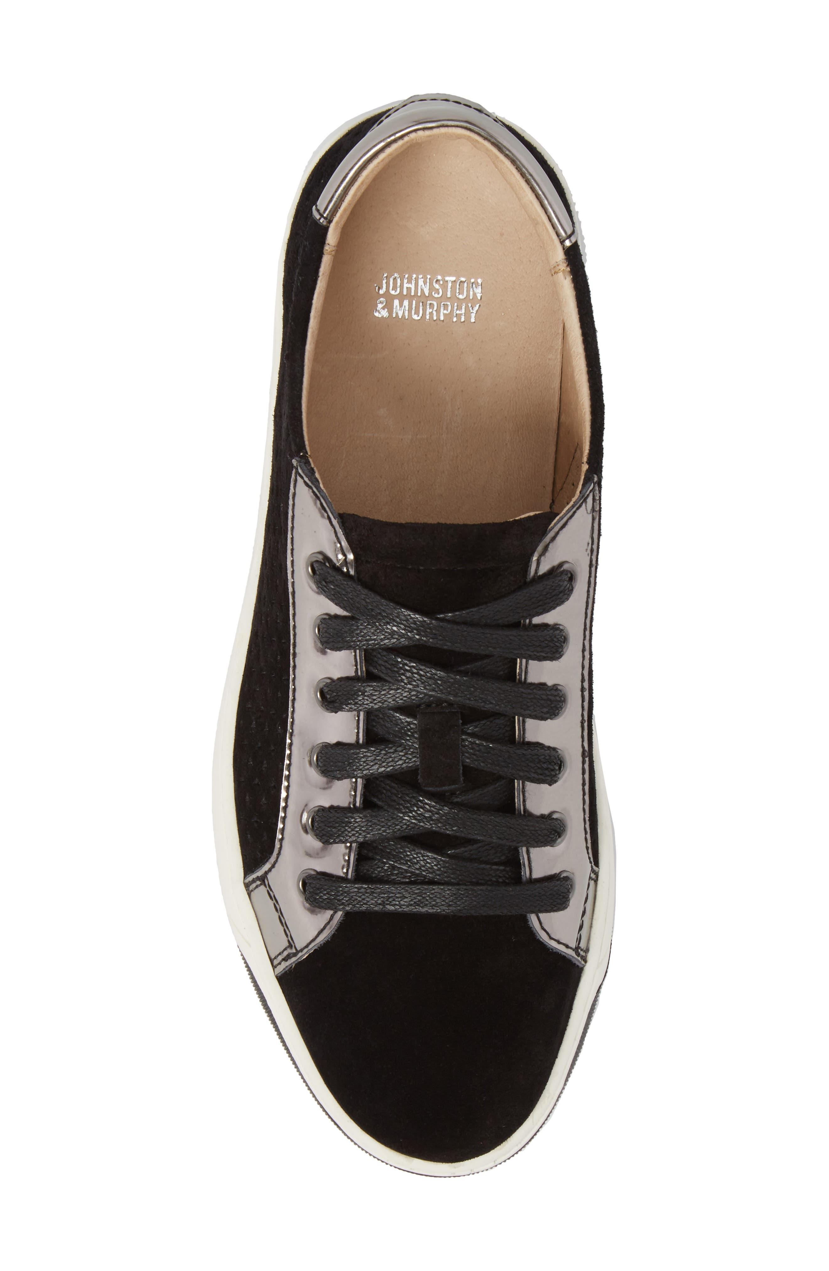 Emerson Perforated Sneaker,                             Alternate thumbnail 5, color,                             001