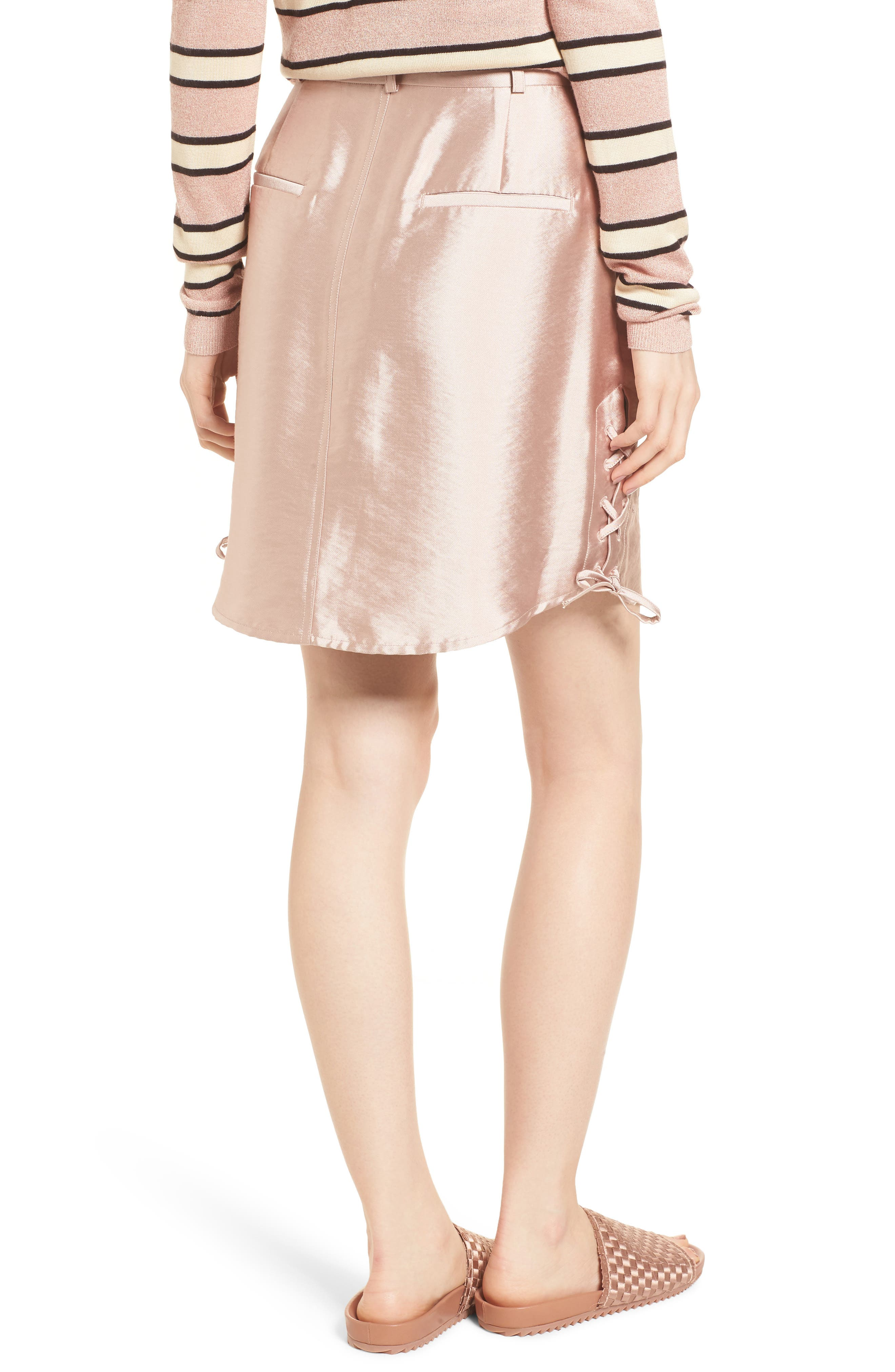 Shiny Safari Skirt,                             Alternate thumbnail 2, color,                             650