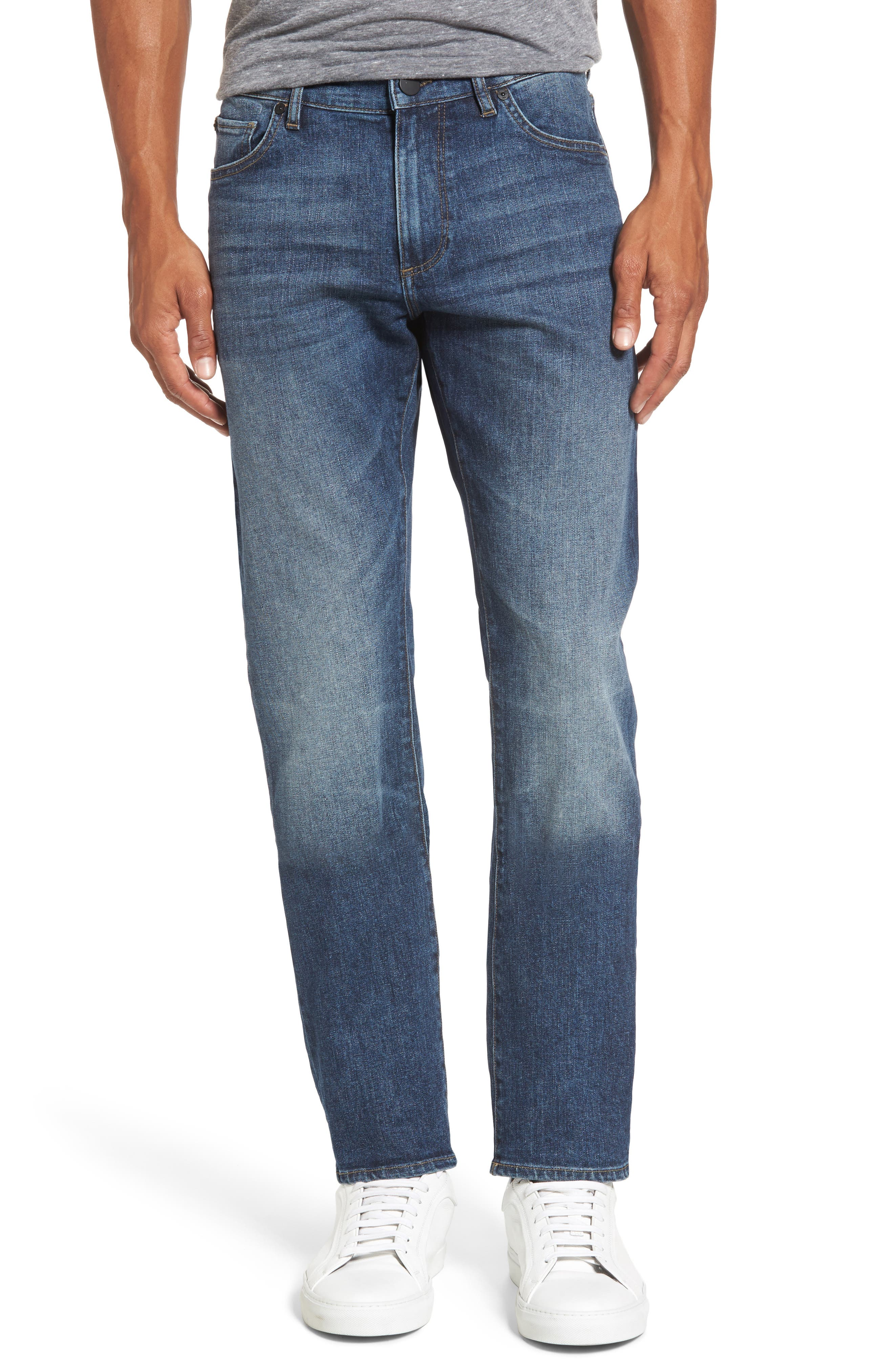 Russell Slim Straight Leg Jeans,                             Main thumbnail 1, color,                             405