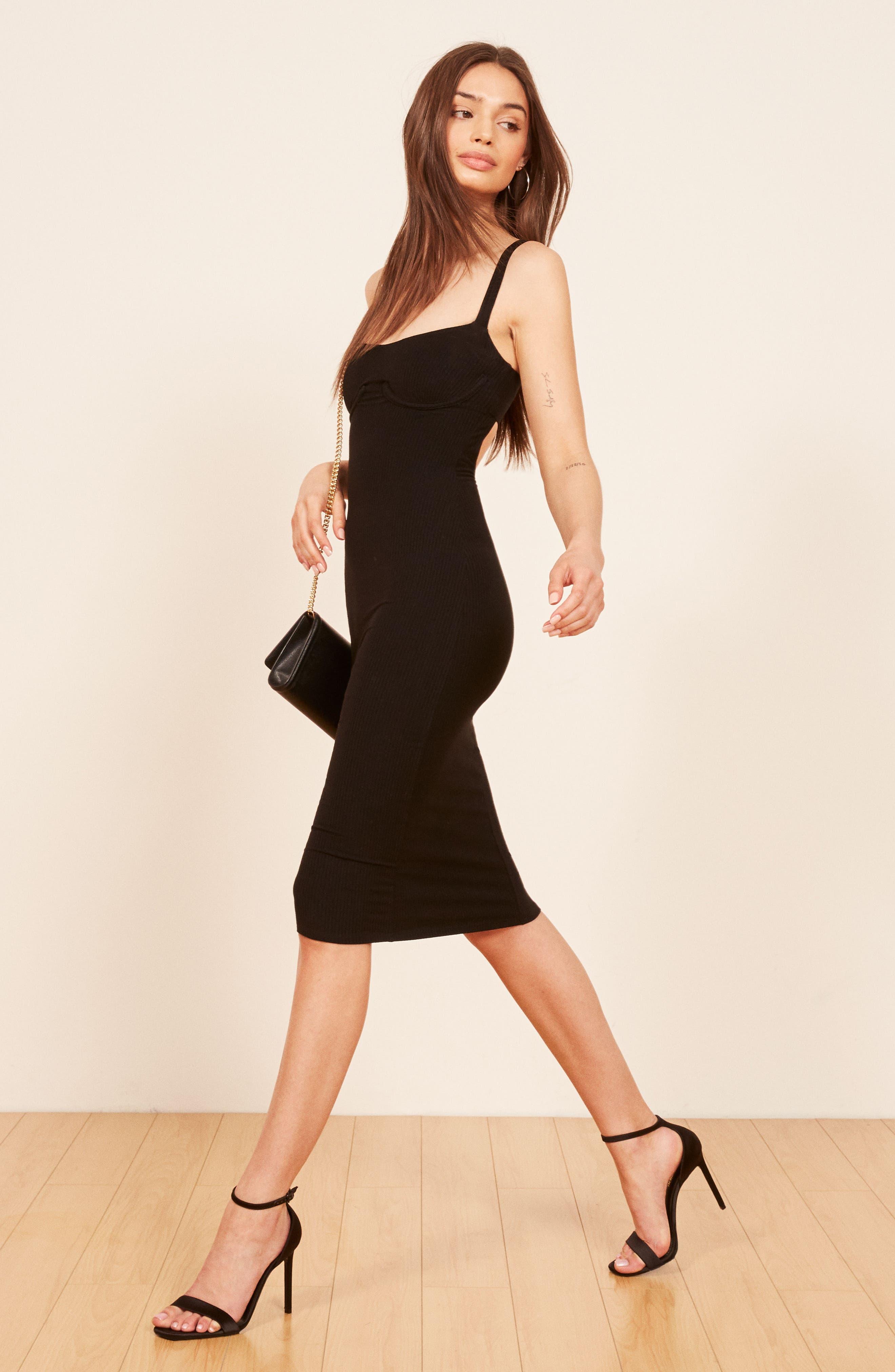 Jayne Bustier Body-Con Dress,                             Alternate thumbnail 3, color,                             001