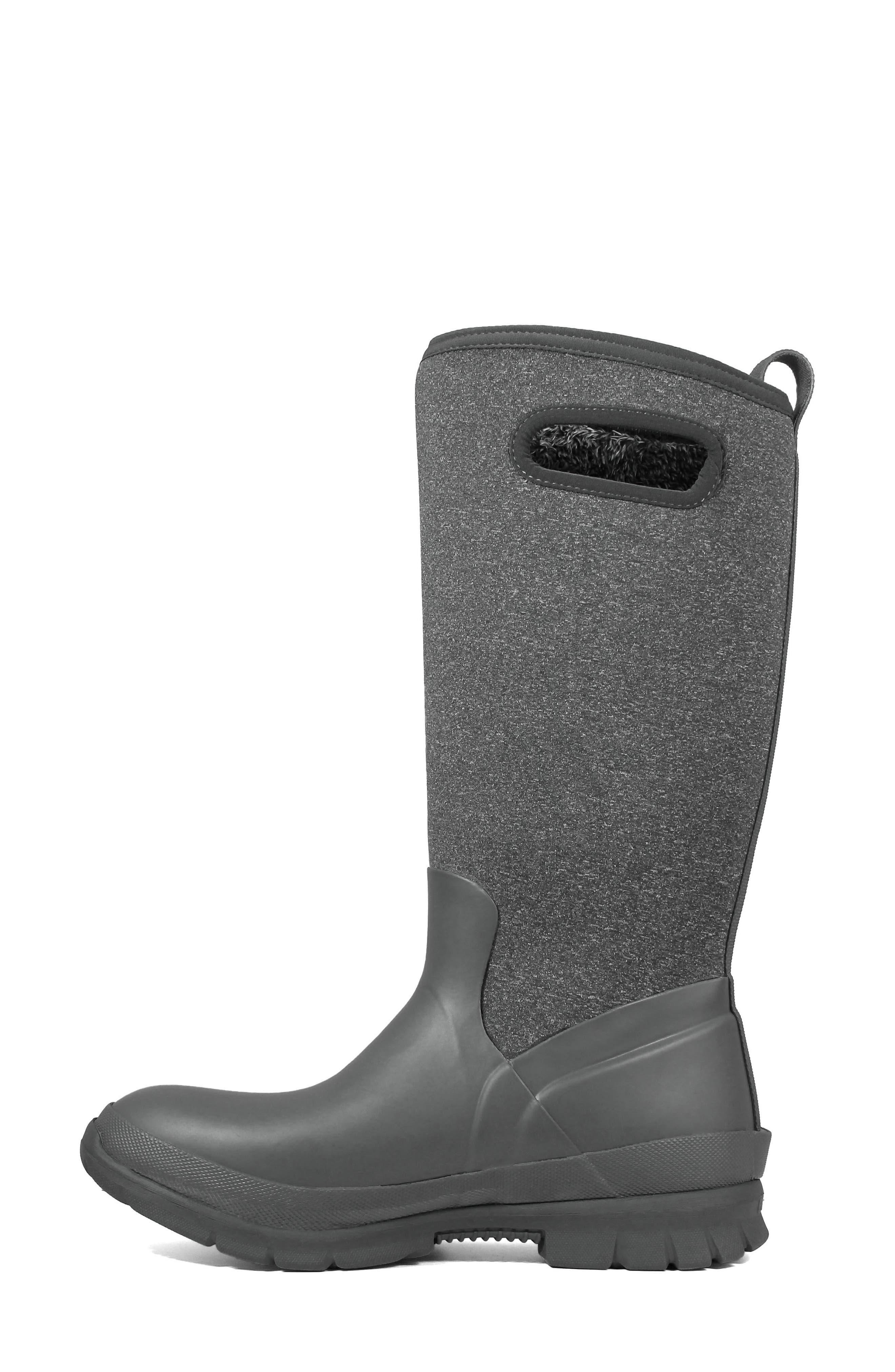 Crandall Waterproof Tall Boot,                             Alternate thumbnail 8, color,                             DARK GREY