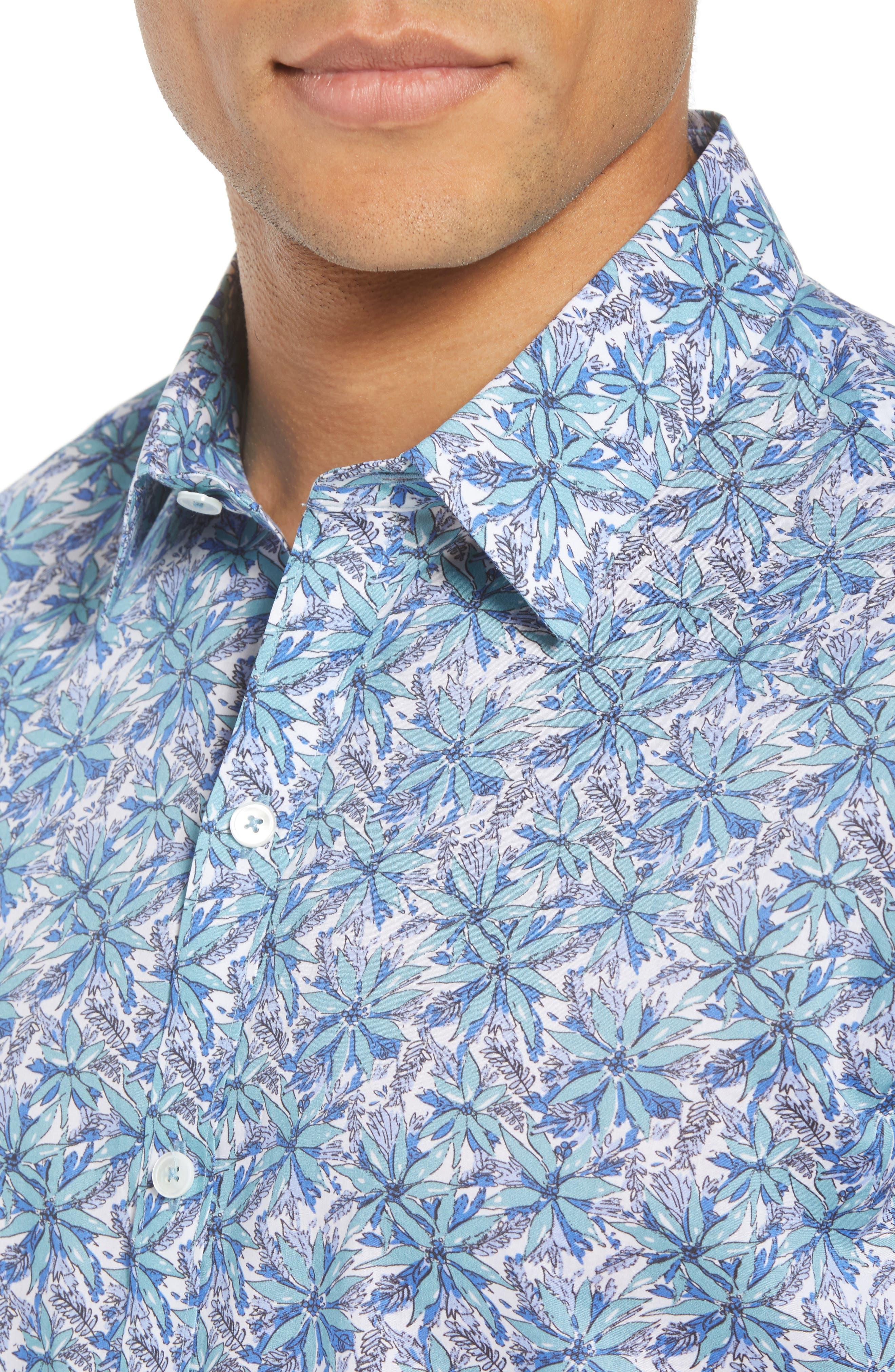 Goelzer Regular Fit Sport Shirt,                             Alternate thumbnail 4, color,                             AQUA