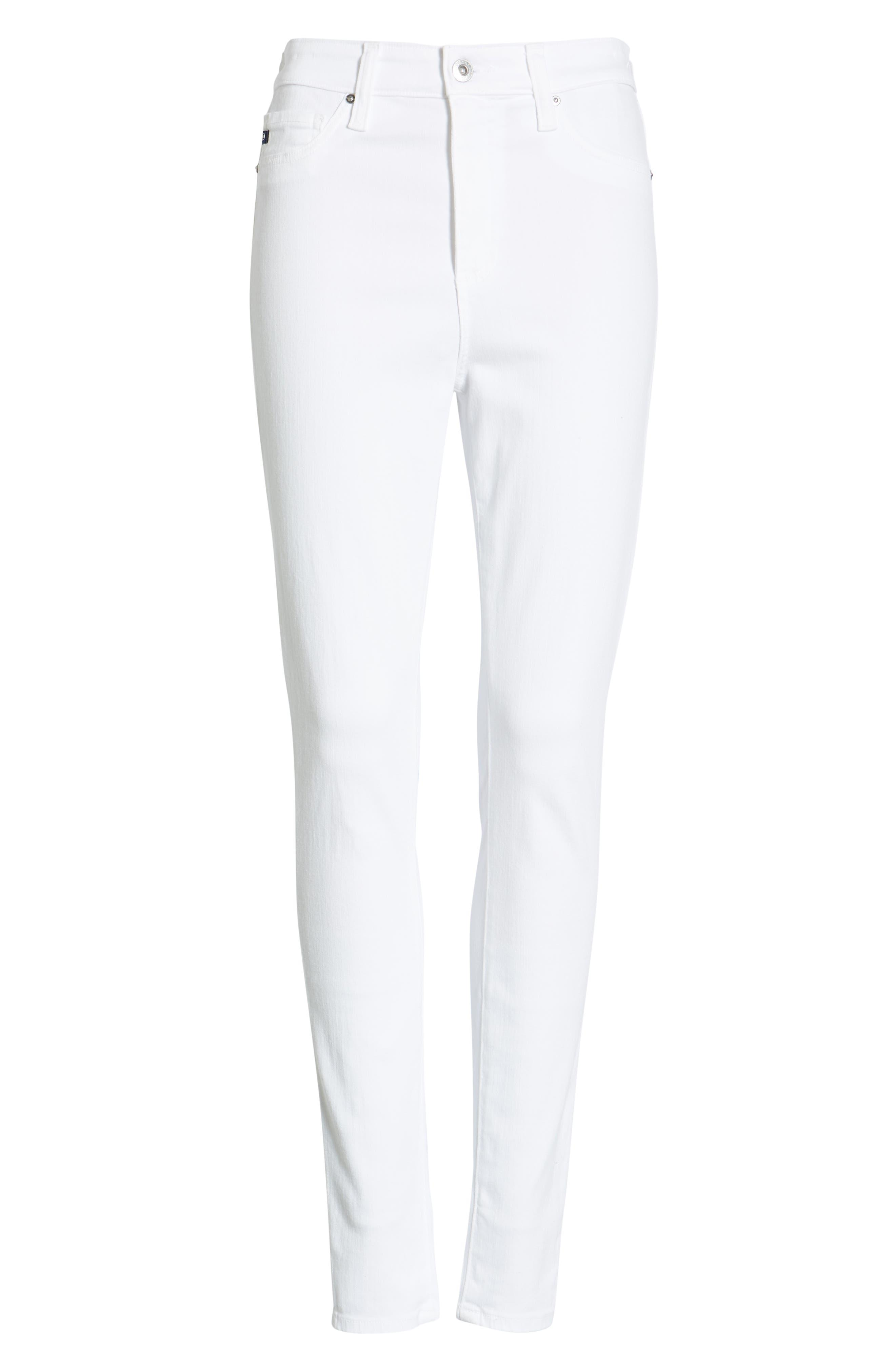 AG,                             The Mila Super High Waist Ankle Skinny Jeans,                             Alternate thumbnail 7, color,                             110