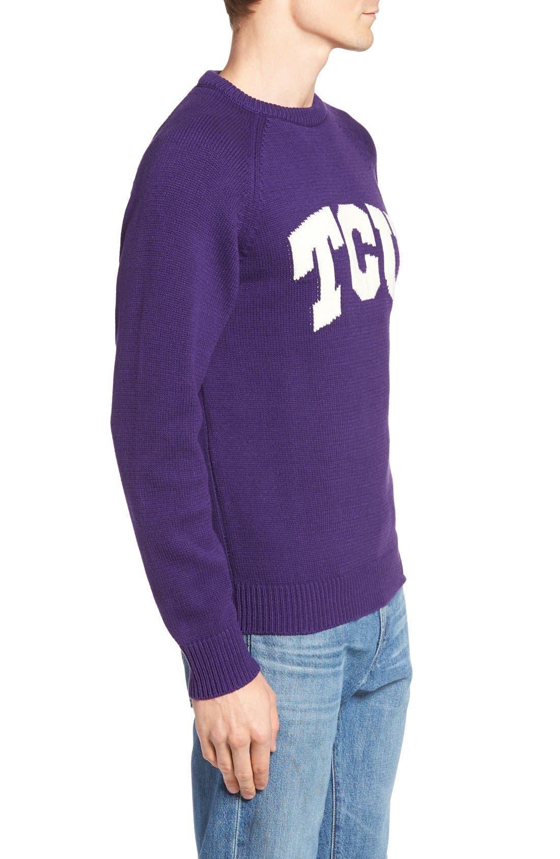 HILLFLINT,                             TCU Heritage Sweater,                             Alternate thumbnail 3, color,                             500