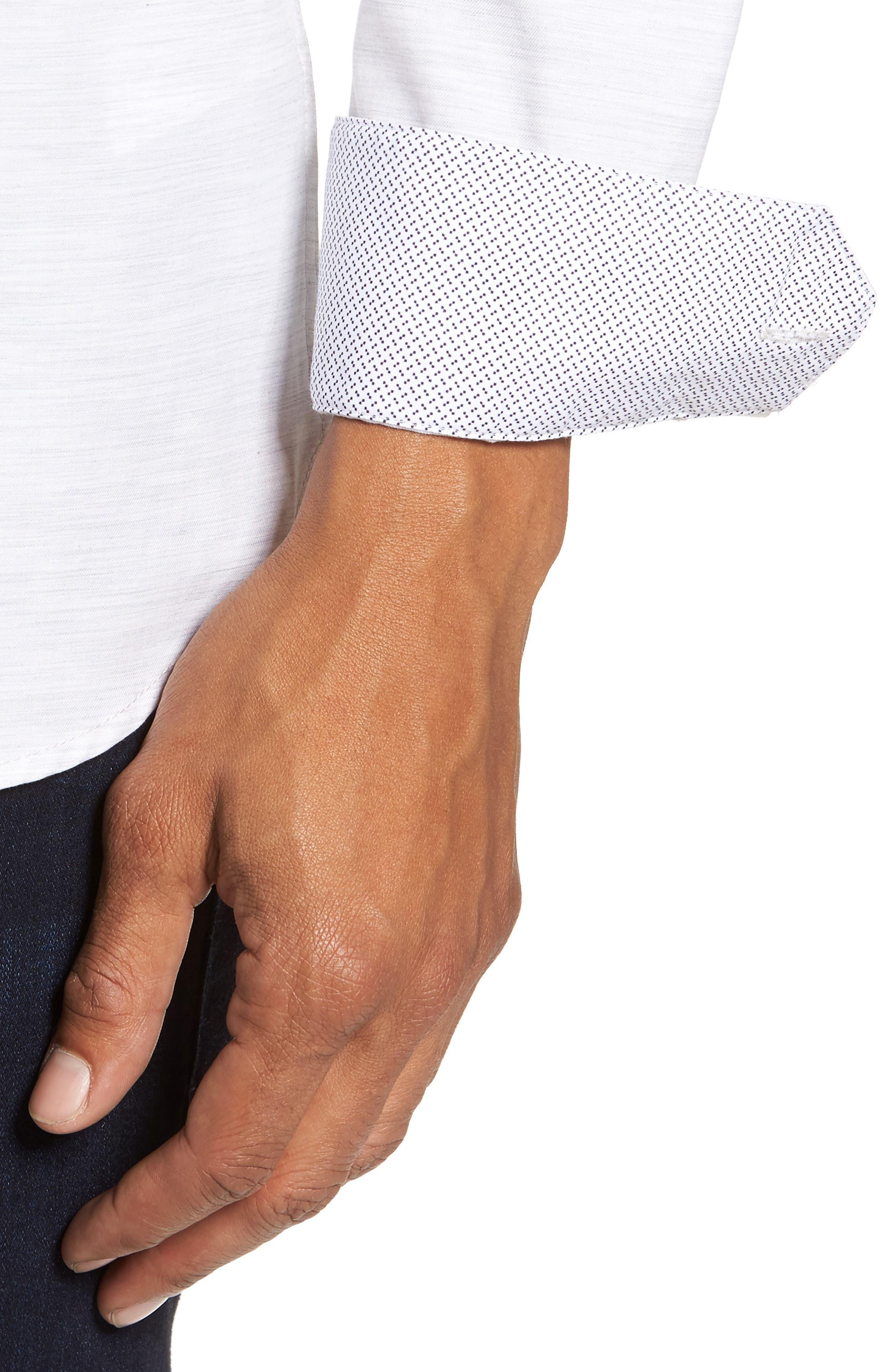 Annisley Modern Slim Fit Sport Shirt,                             Alternate thumbnail 4, color,                             031