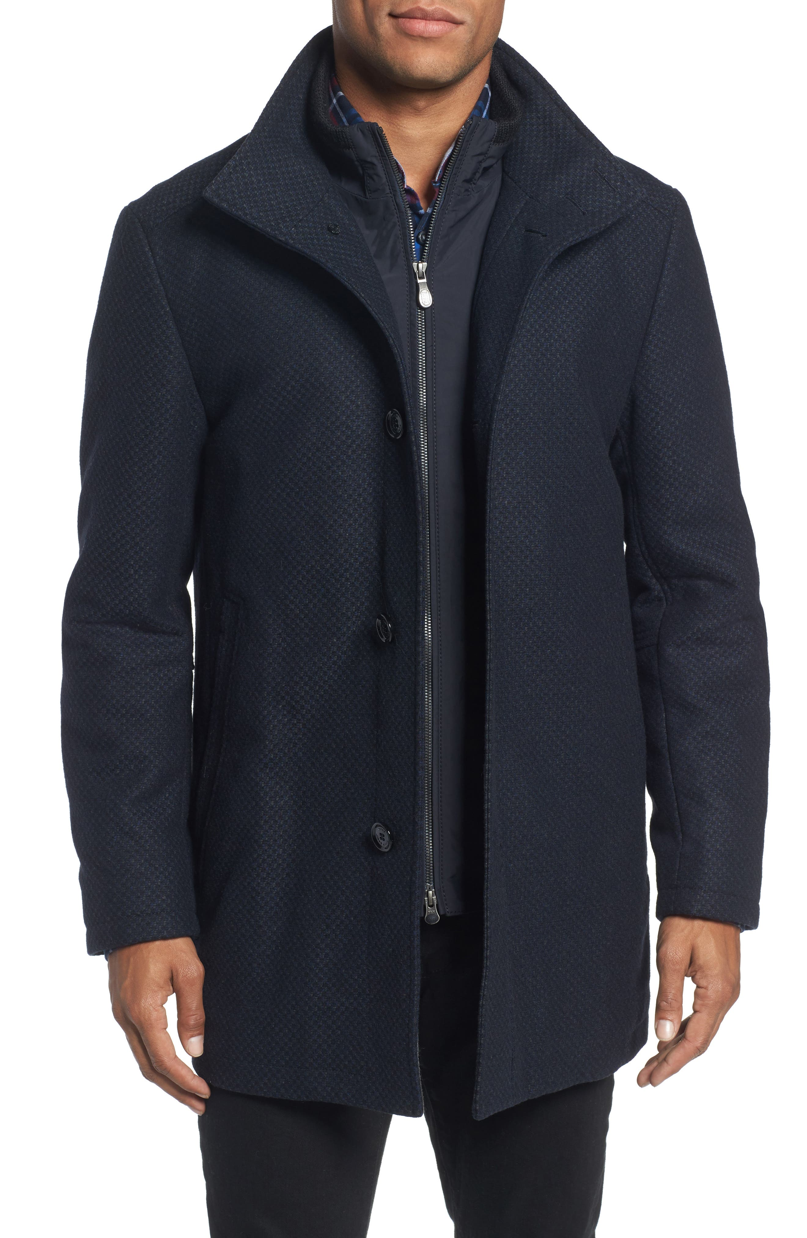 BOSS C-Coxtan Wool Blend Coat with Insert,                             Main thumbnail 2, color,