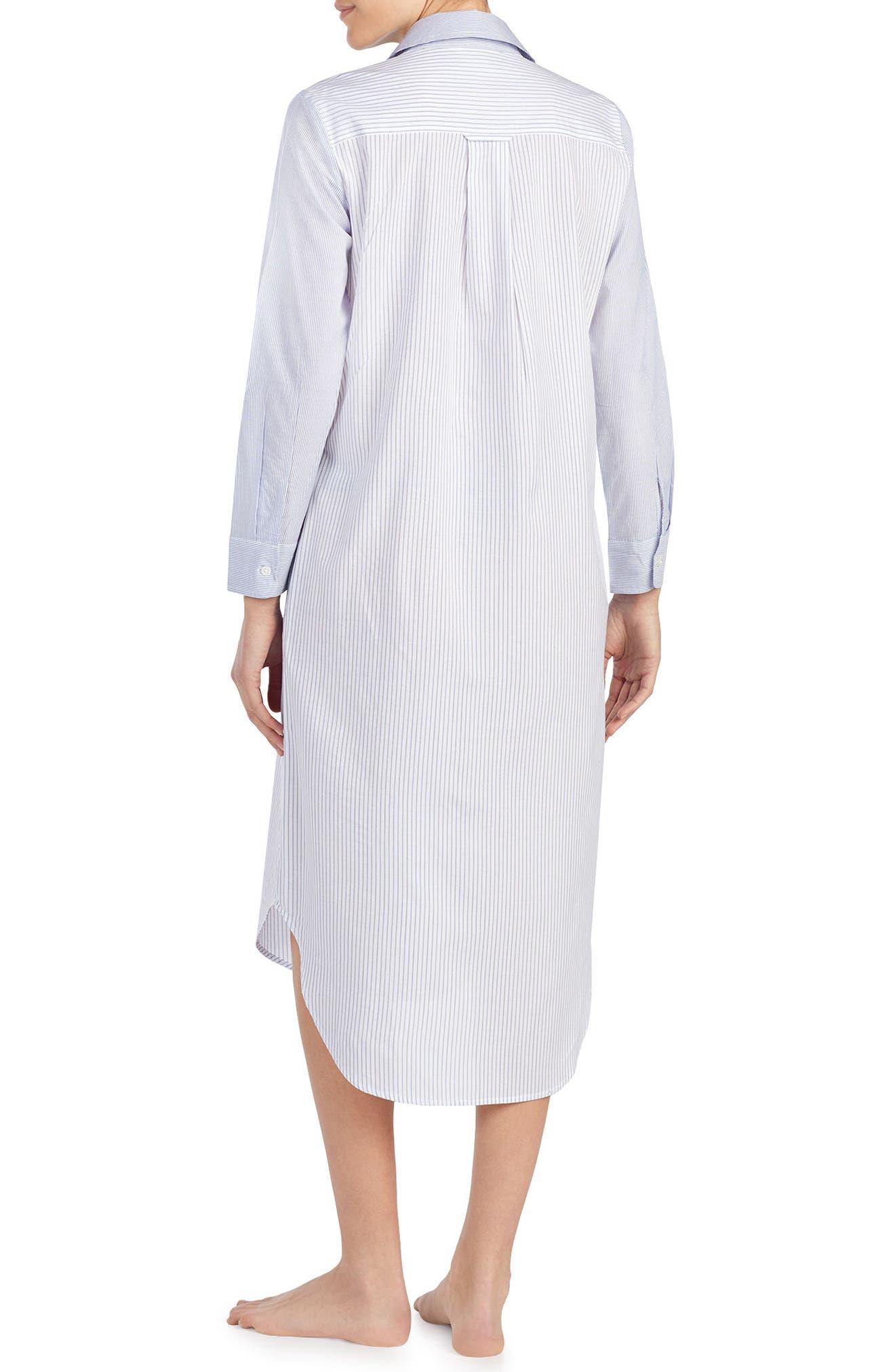 Sleep Shirt,                             Alternate thumbnail 2, color,                             WHITE STRIPE