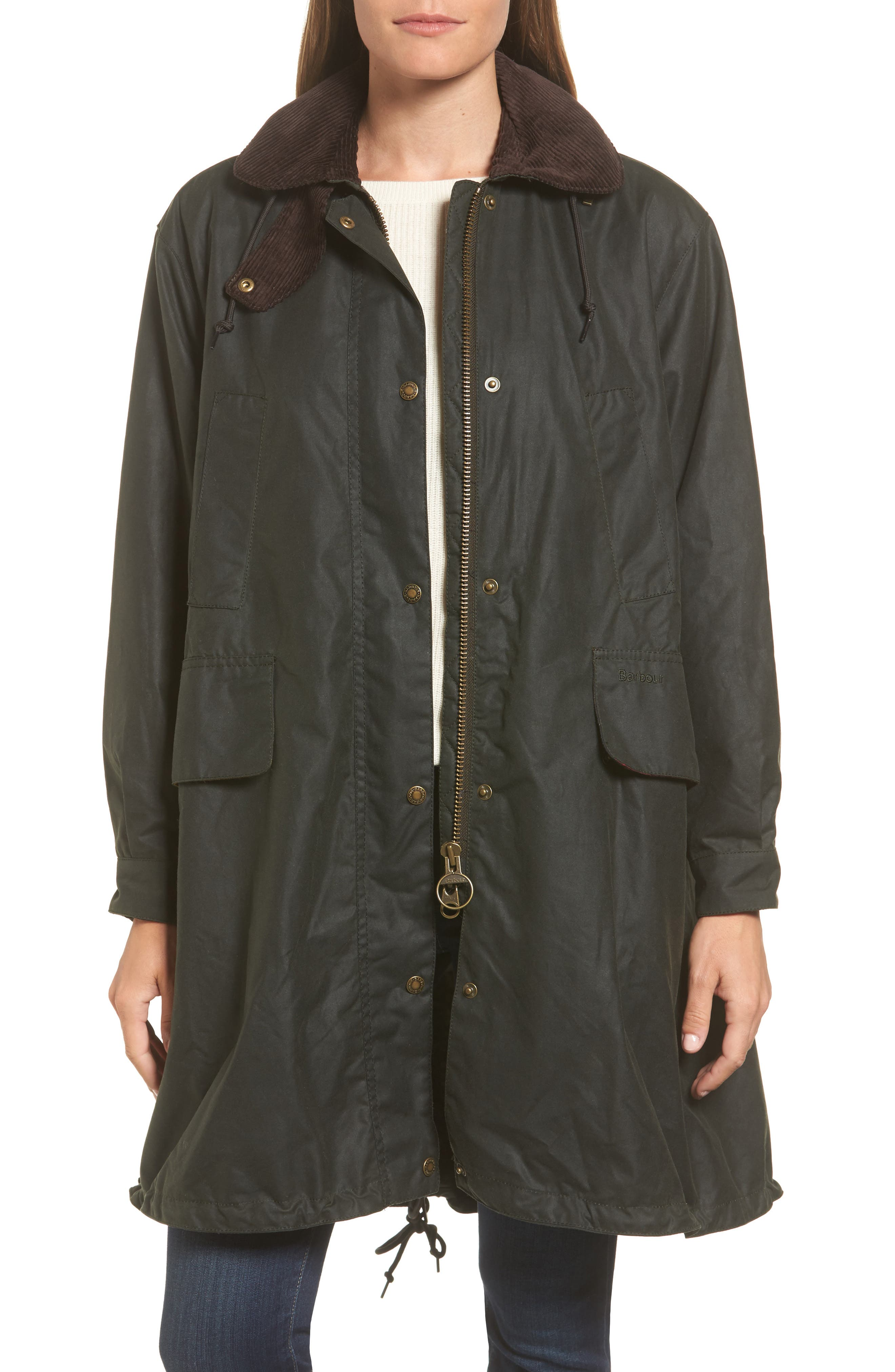 Thirkleby Water Resistant Waxed Canvas Smock Jacket,                         Main,                         color, 302