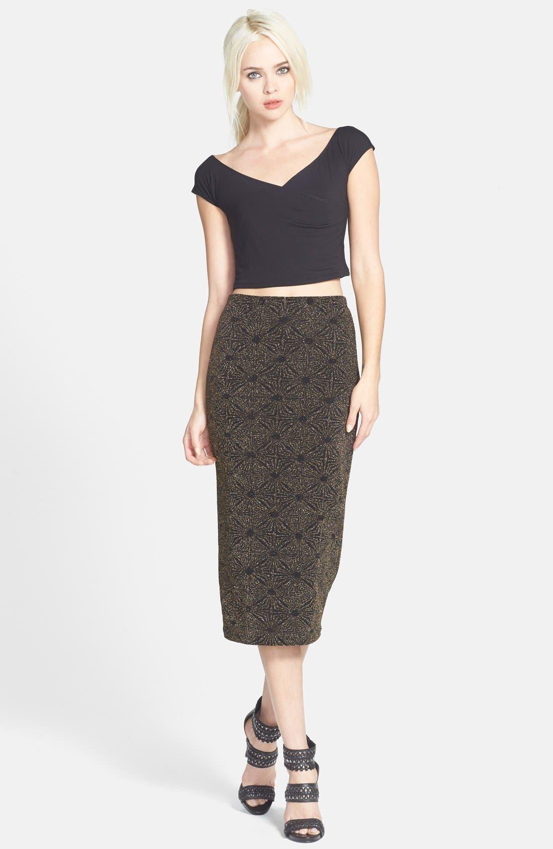 Glitter Midi Skirt,                             Alternate thumbnail 5, color,                             710