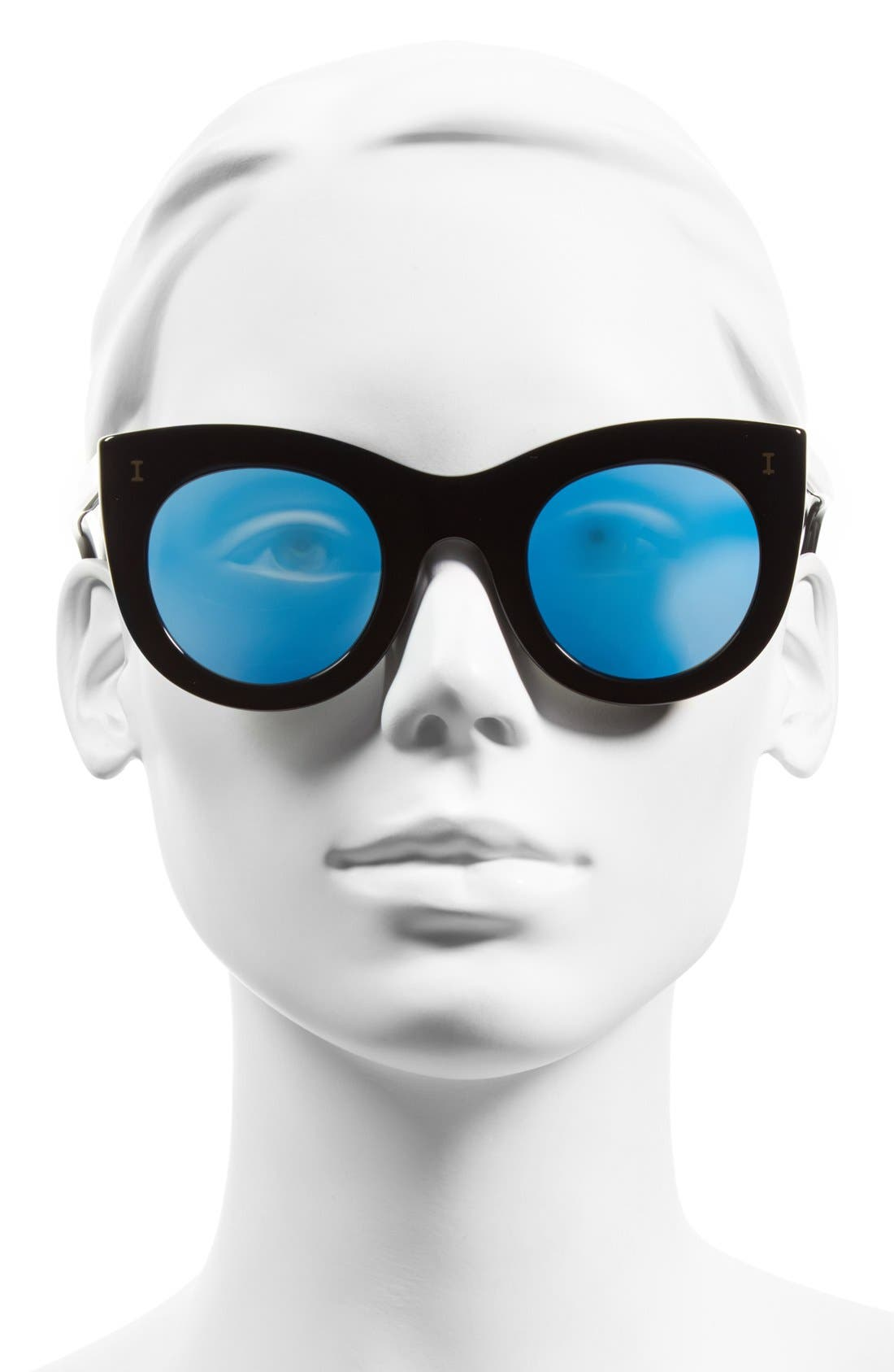 'Boca' 47mm Round Sunglasses,                             Alternate thumbnail 2, color,                             001