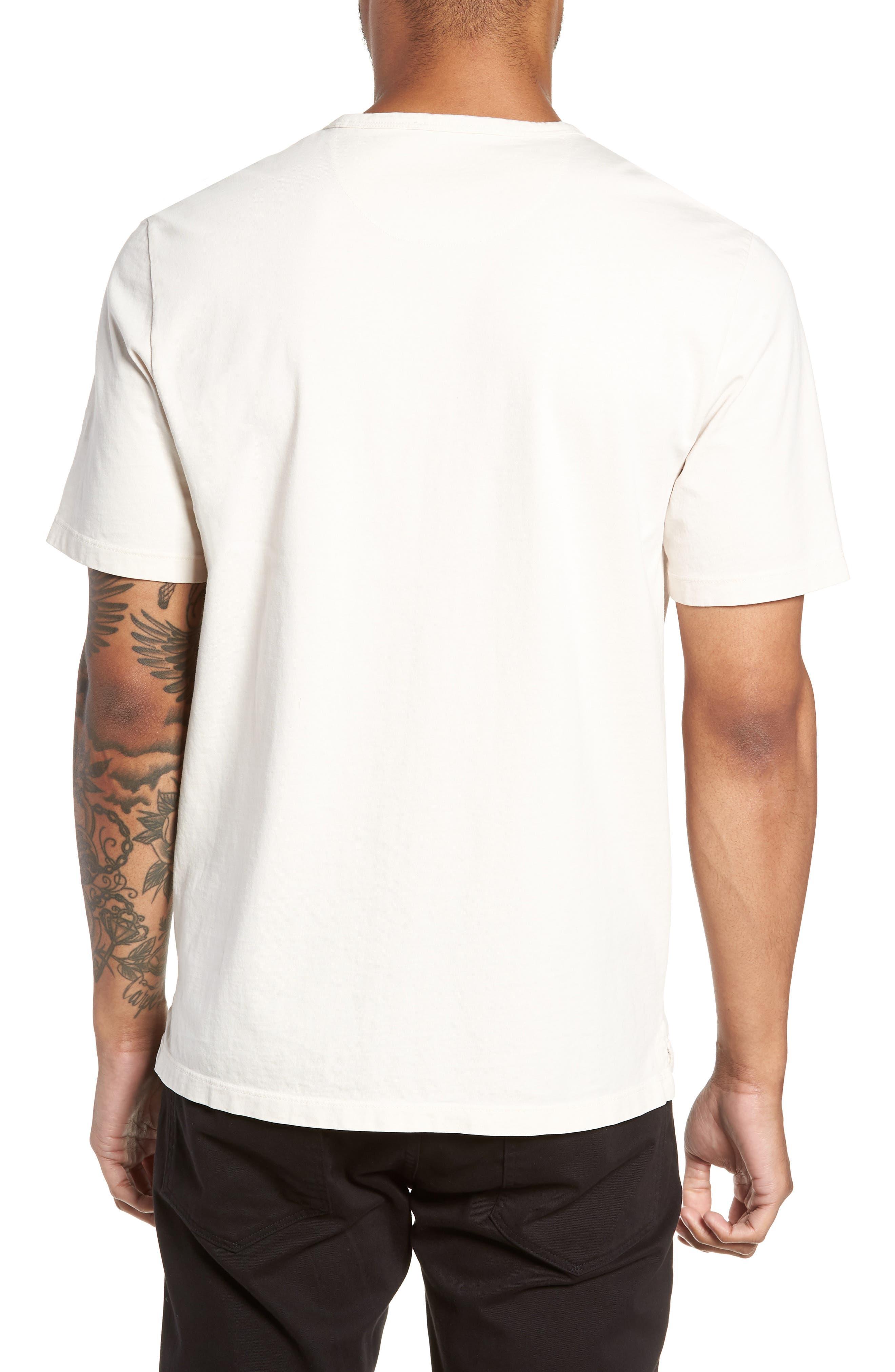 Regular Fit Garment Dye Pocket T-Shirt,                             Alternate thumbnail 2, color,                             SAIL