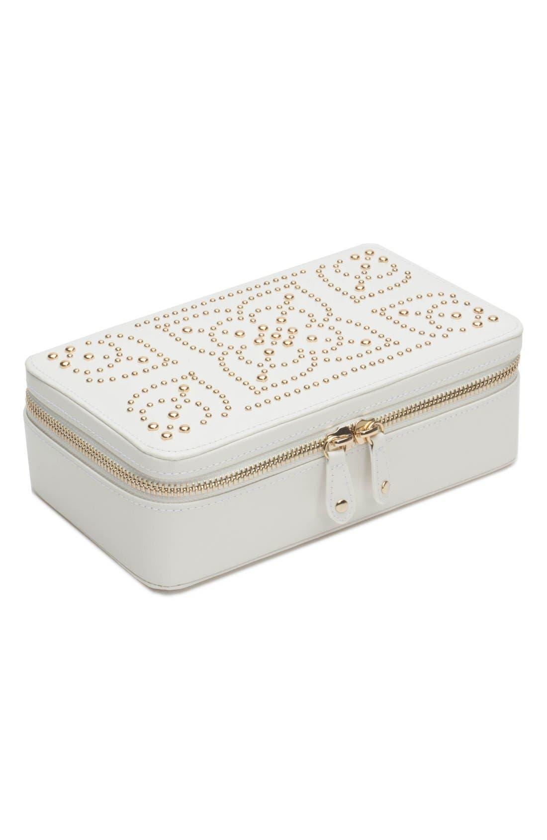 'Marrakesh' Zip Jewelry Case,                         Main,                         color, CREAM