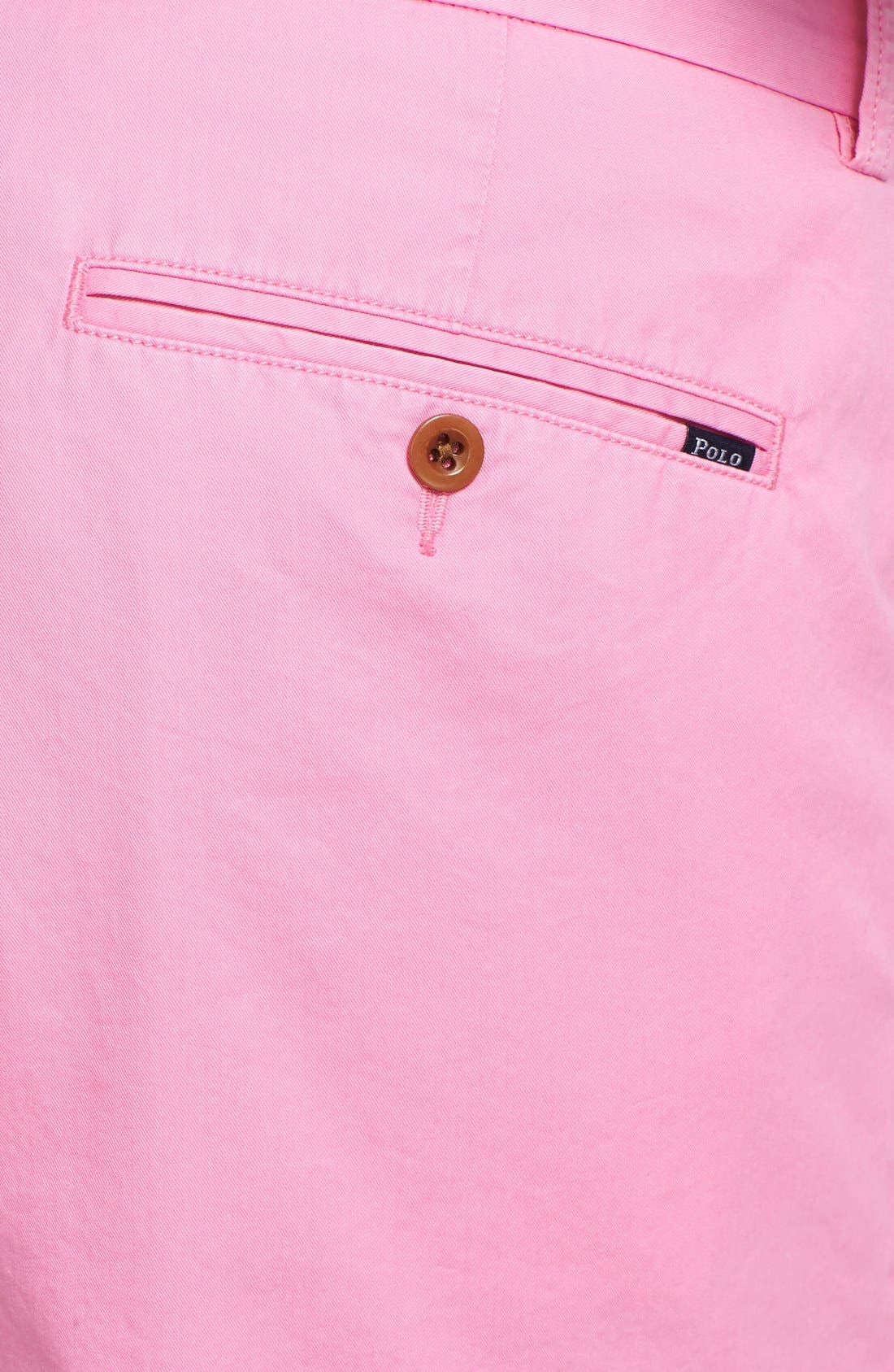 'Hudson' Flat Front Classic Fit Chino Shorts,                             Alternate thumbnail 3, color,                             670