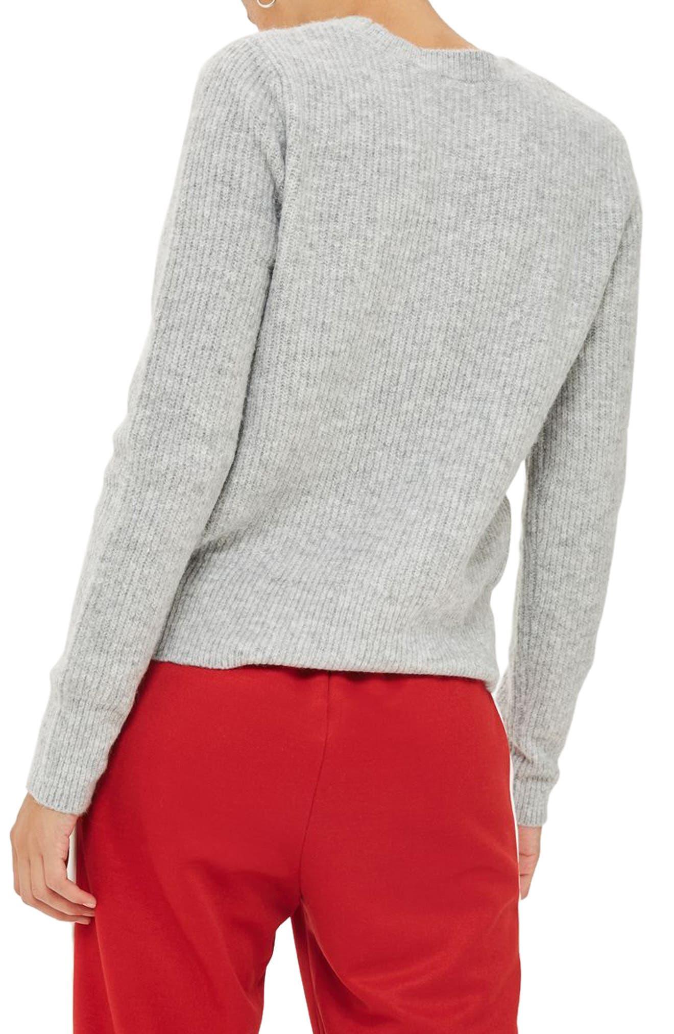 Ribbed Crewneck Sweater,                             Alternate thumbnail 5, color,