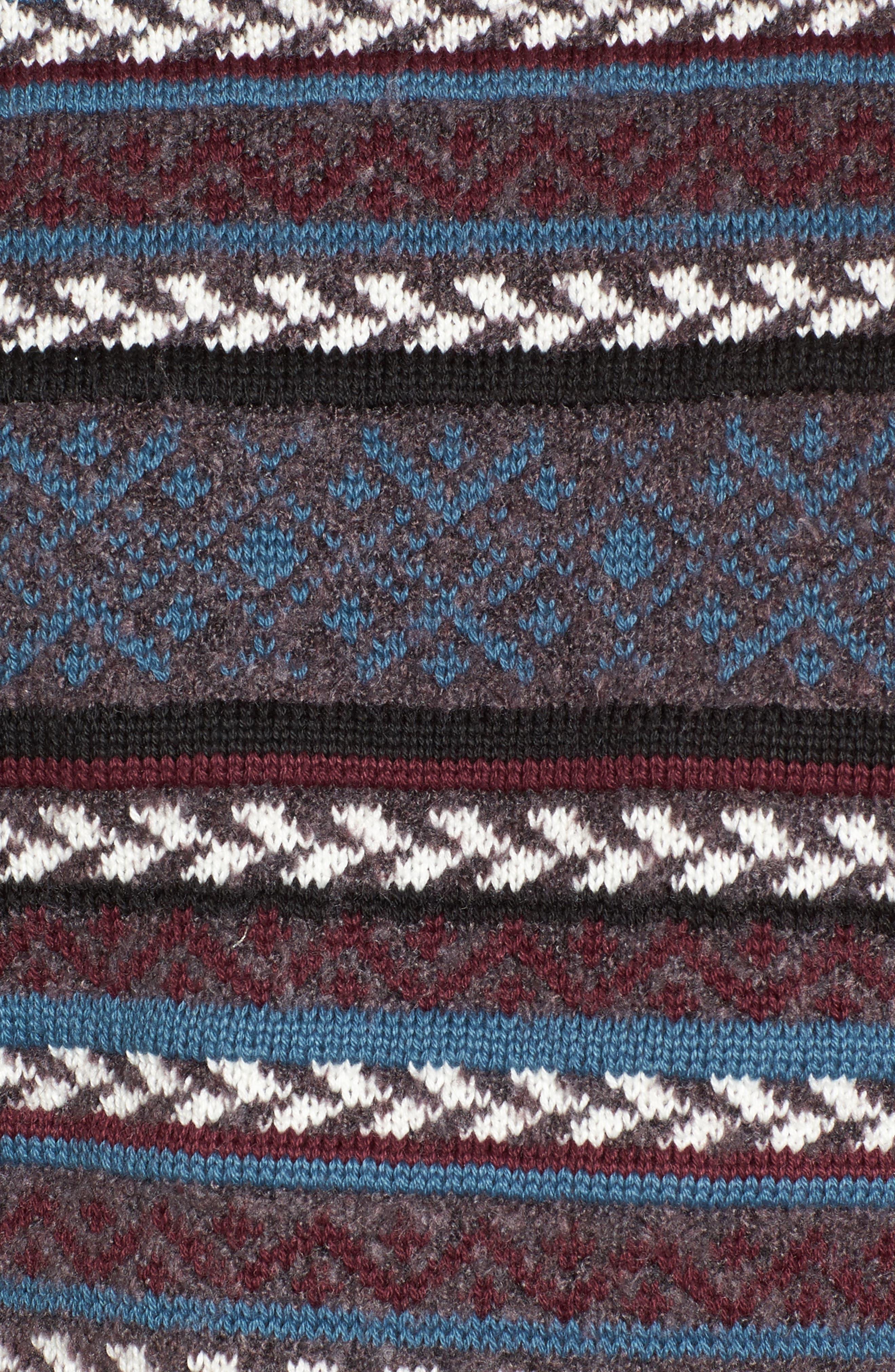 Fair Isle Stripe Sweater,                             Alternate thumbnail 5, color,                             930